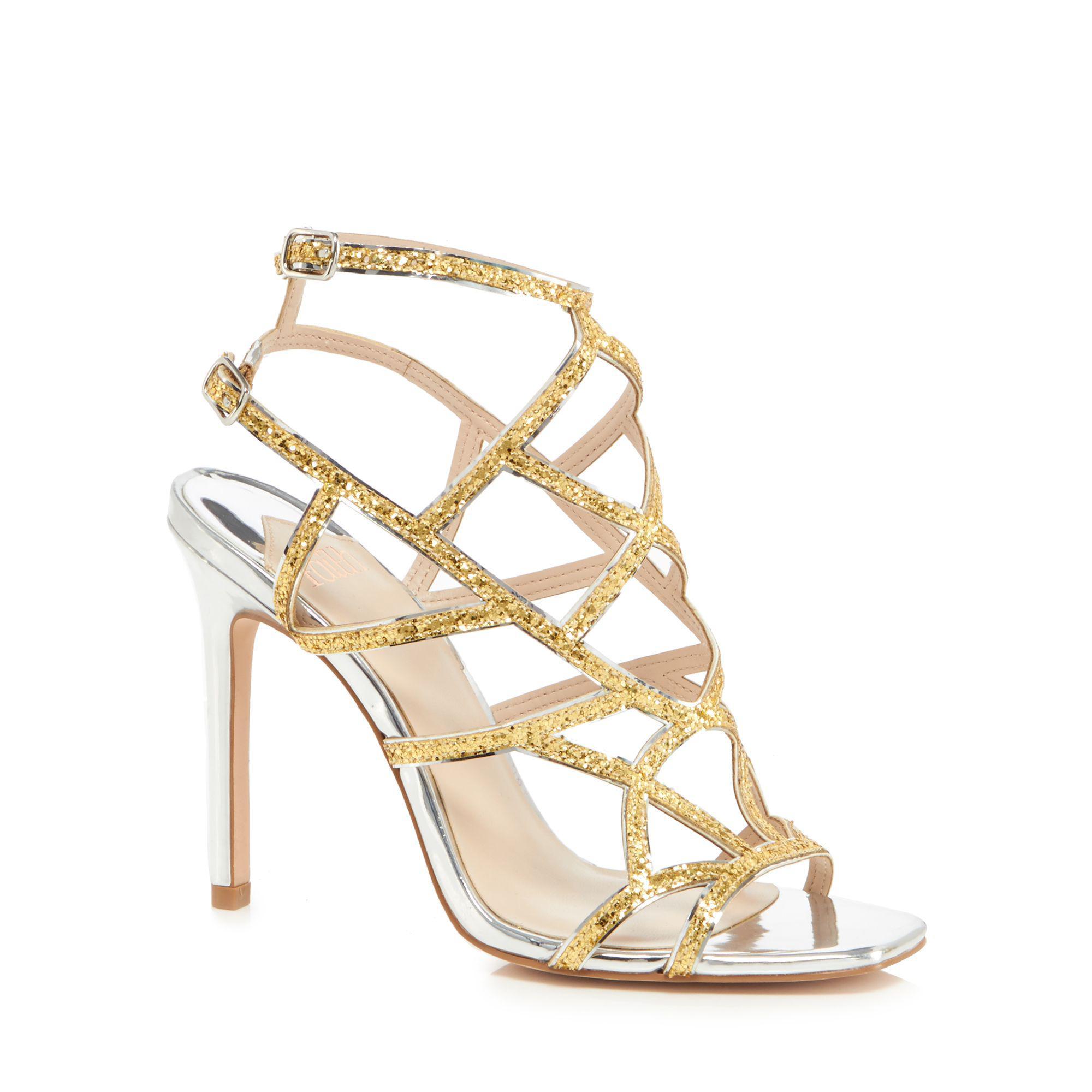 671cde400003 Faith Gold  latoya  High Stiletto Heel Ankle Strap Sandals in ...
