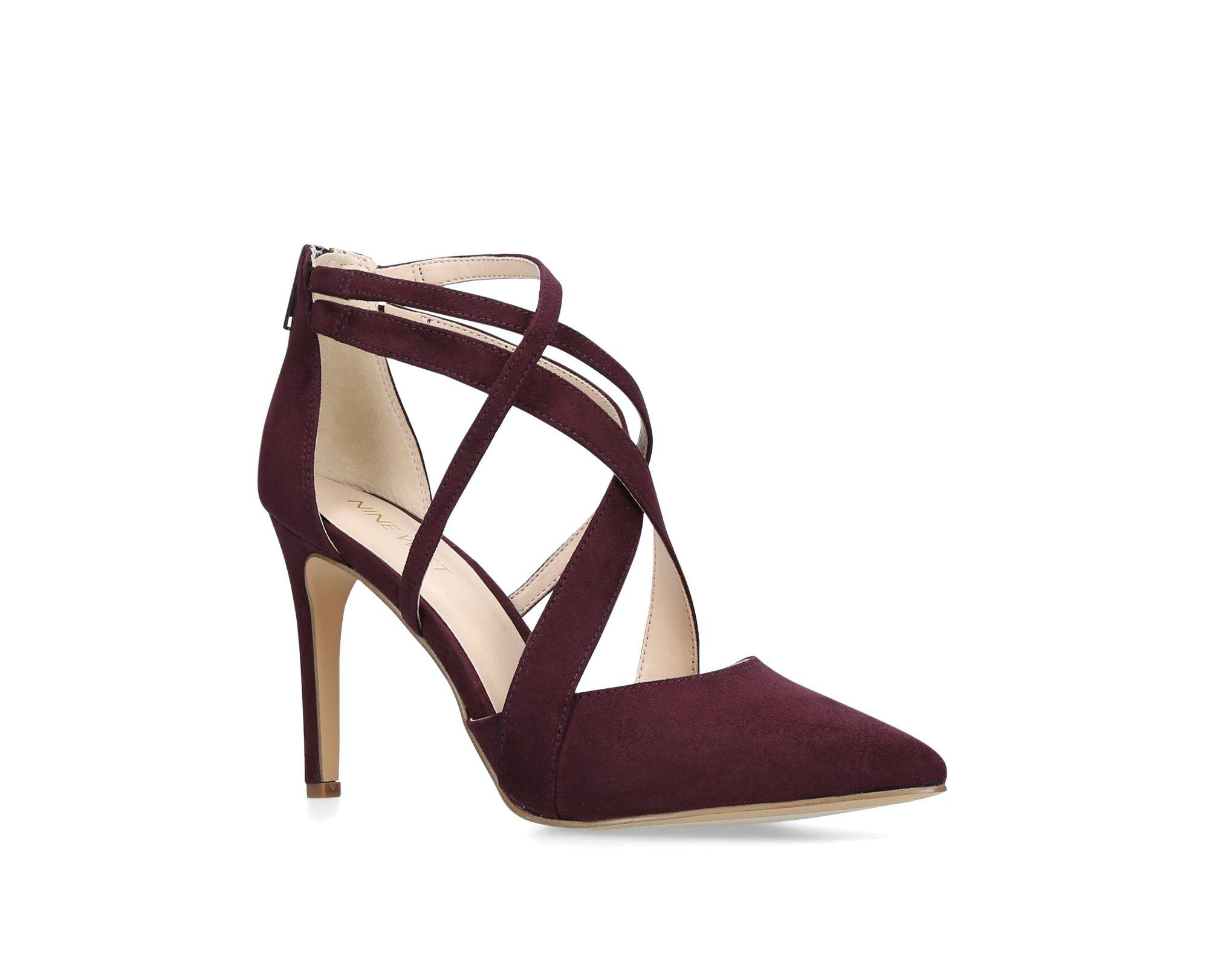 5f7f2c9cfc59 Nine West Wine  zorever  High Heel Court Shoes in Red - Lyst