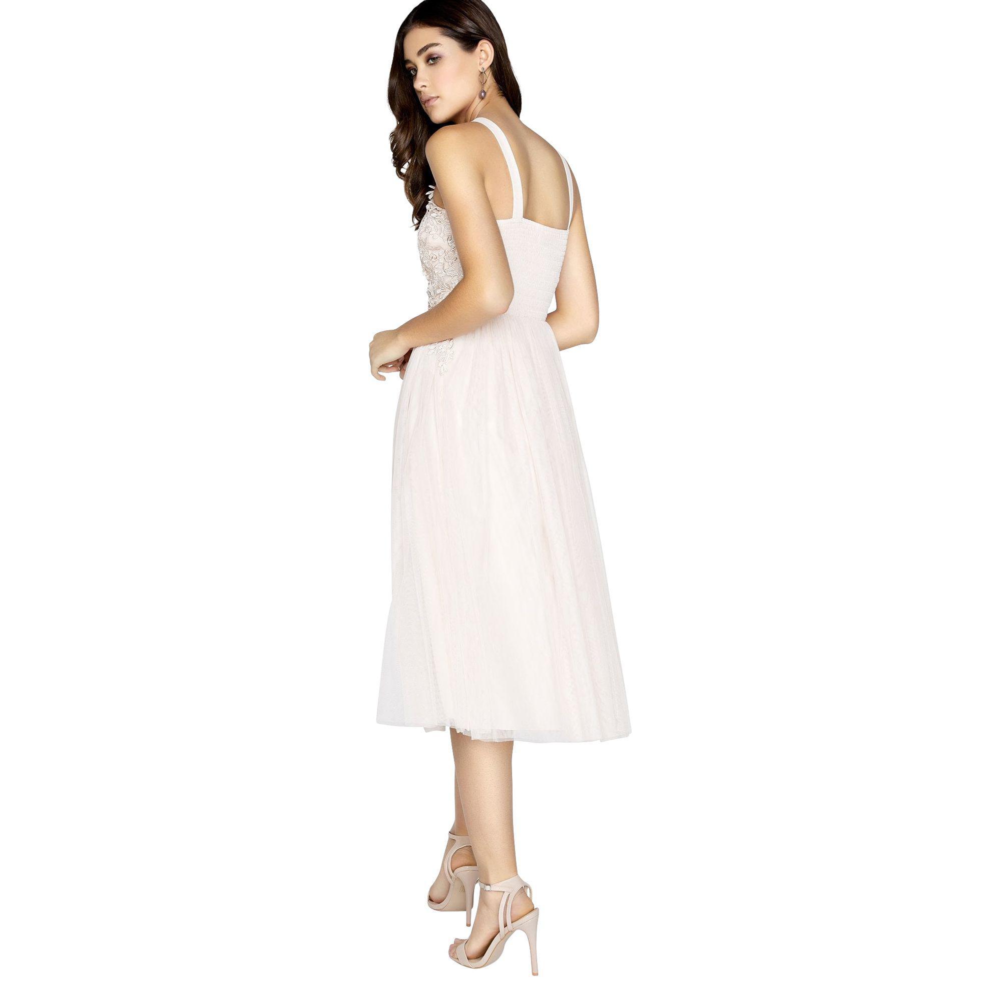 82be22bc8d40c Little Mistress - Natural Summer Floral Applique Prom Dress - Lyst. View  fullscreen