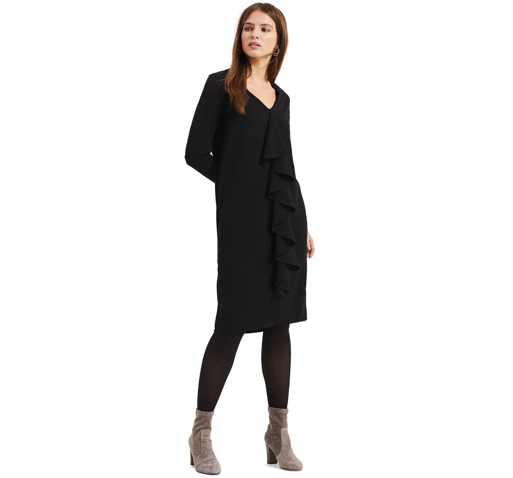 7463d84735 Phase Eight Black Massy Centre Ruffle Dress in Black - Lyst