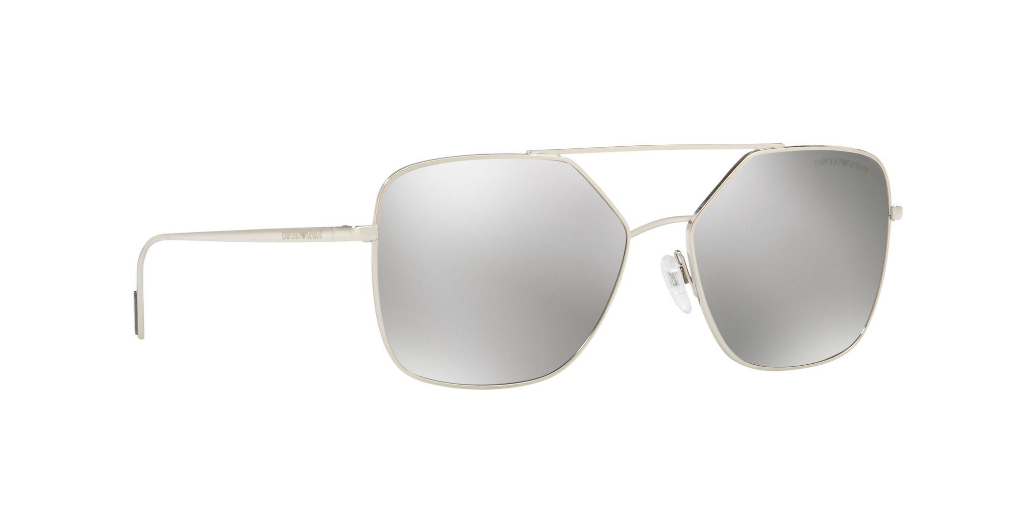 482daf07dae2 Emporio Armani Silver Ea2053 Square Sunglasses in Metallic for Men ...