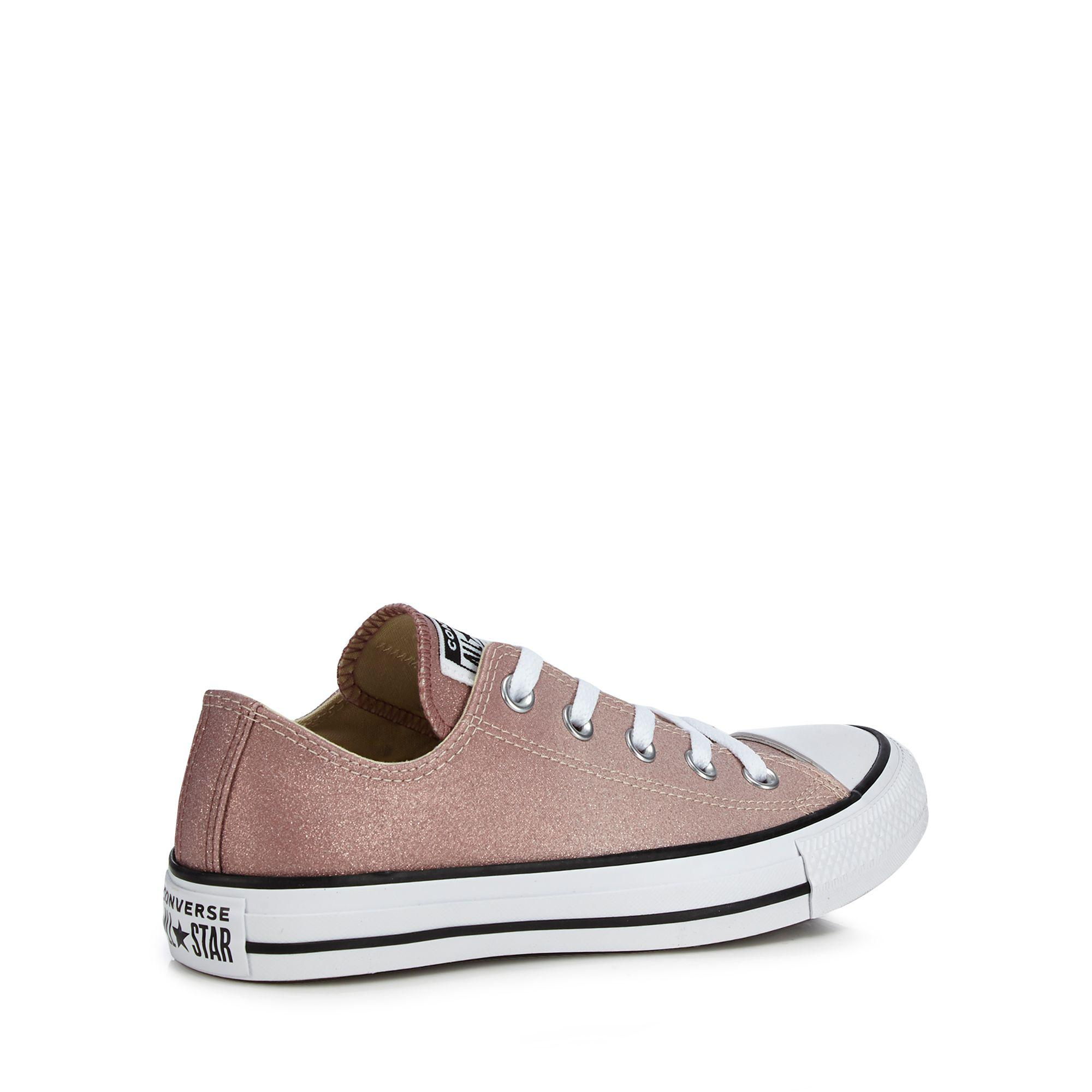 8e28017baed7 Converse - Gray Pink Glitter  all Star Ox  Trainers - Lyst. View fullscreen