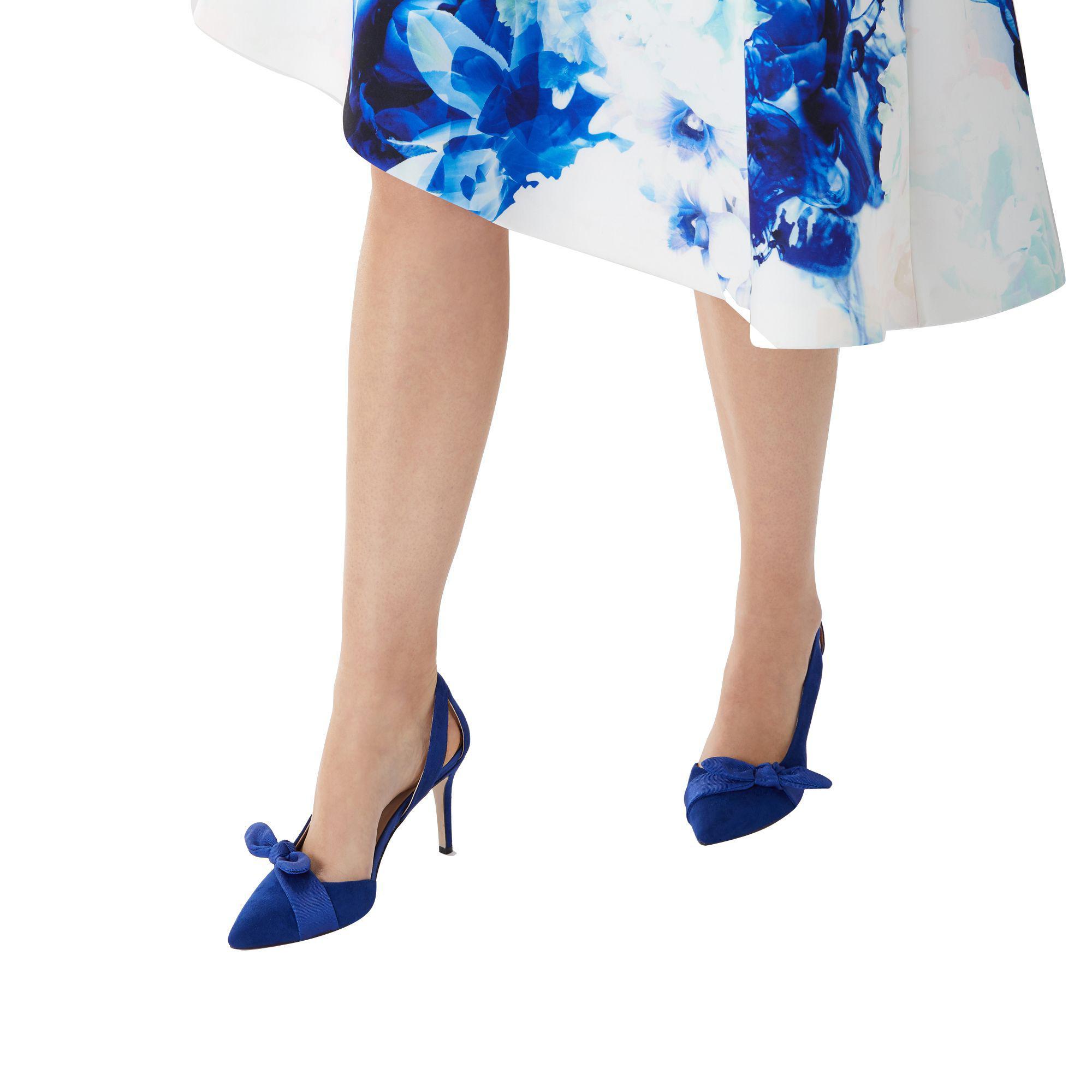 f4f3f97cdff Coast - Cobalt Blue  elina  Bow Court Heel - Lyst. View fullscreen