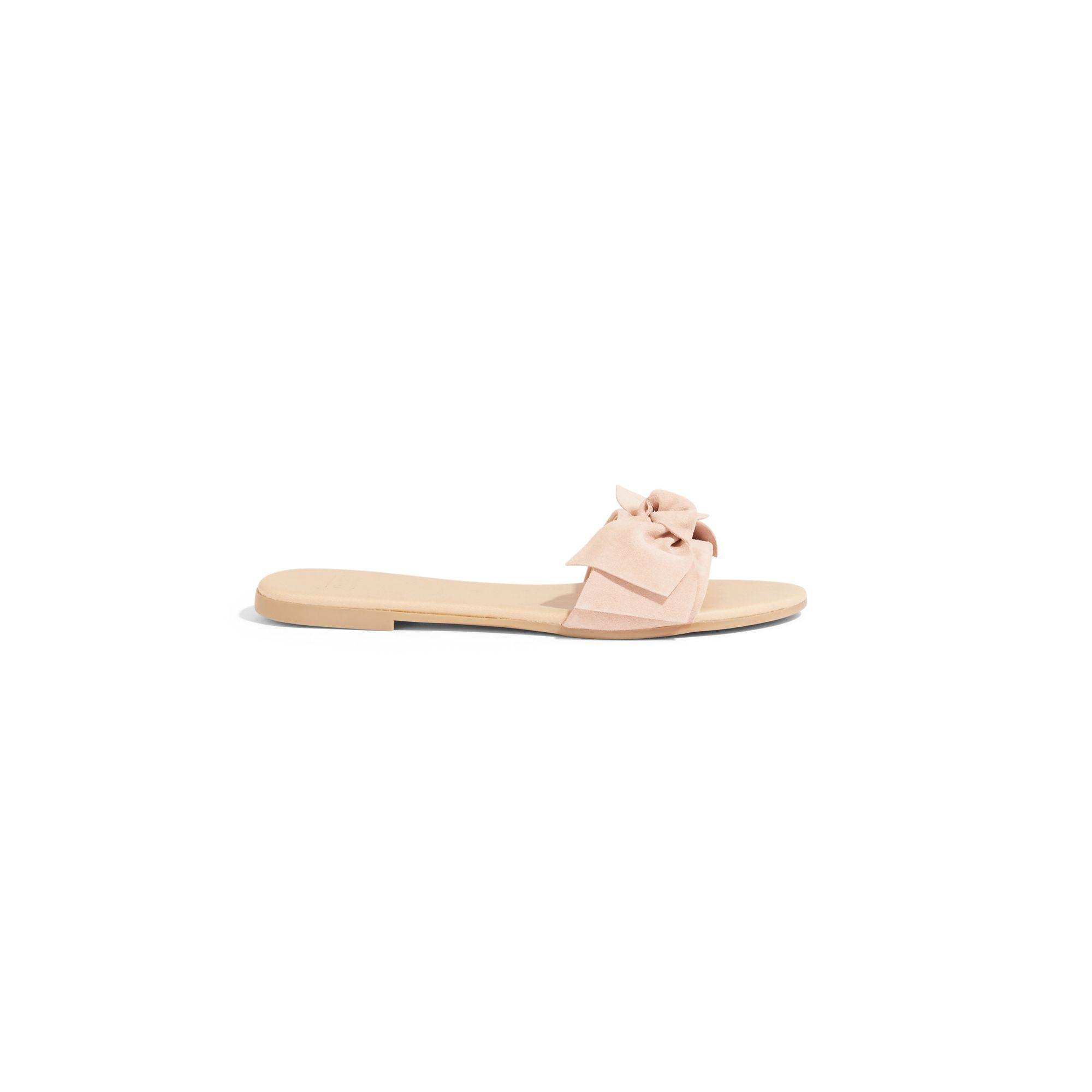 b4c11cd5bdb5 Oasis Nude Bow Sliders in Natural - Lyst
