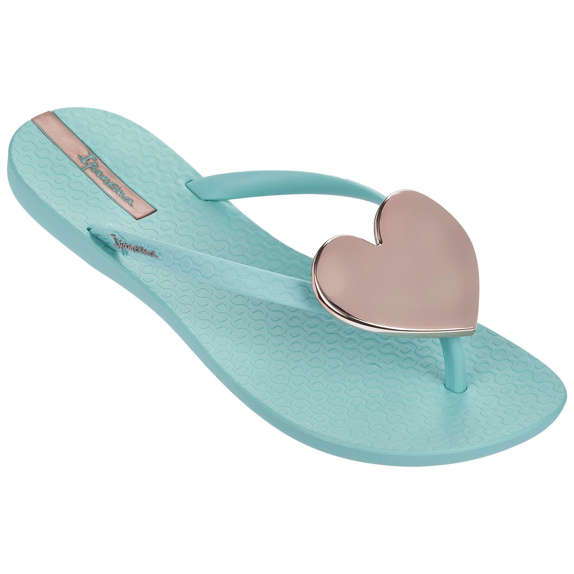 Blue 'Maxi Heart' sandals outlet online clearance big sale B1K7Czsm