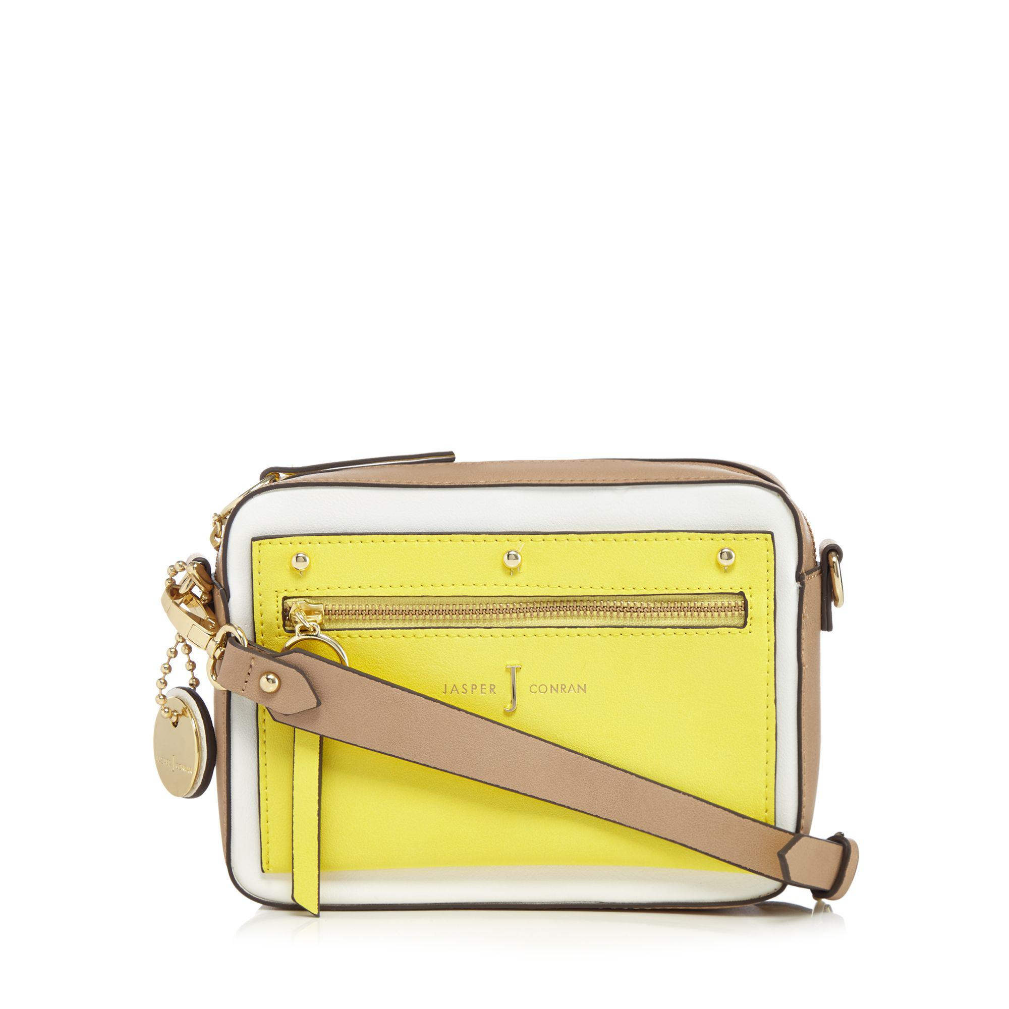 4c33f3a8f0 J By Jasper Conran Yellow Colour Block Small Grab Bag in Yellow - Lyst