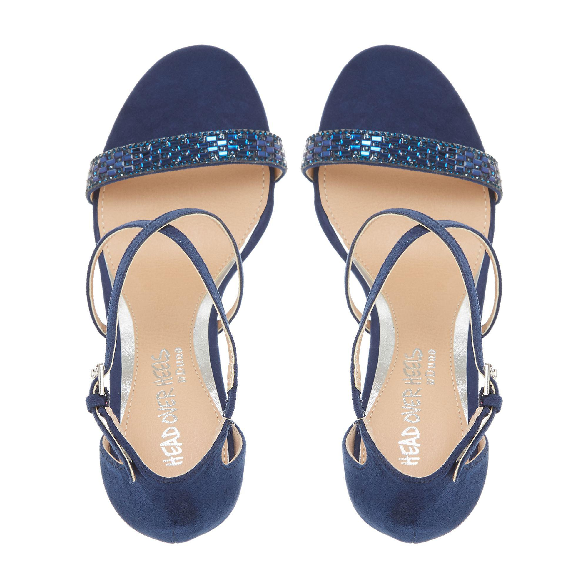 f0d684b5341d Dune Navy  missy  Ankle Strap Sandals in Blue - Lyst