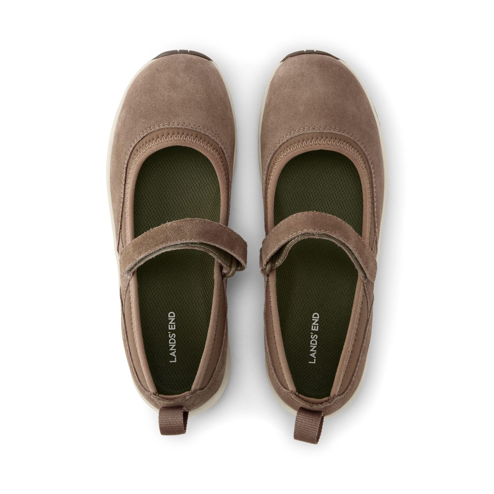 0ab883d4c9f Lands  End - Brown Wide Everyday Comfort Mary Jane Shoes - Lyst. View  fullscreen