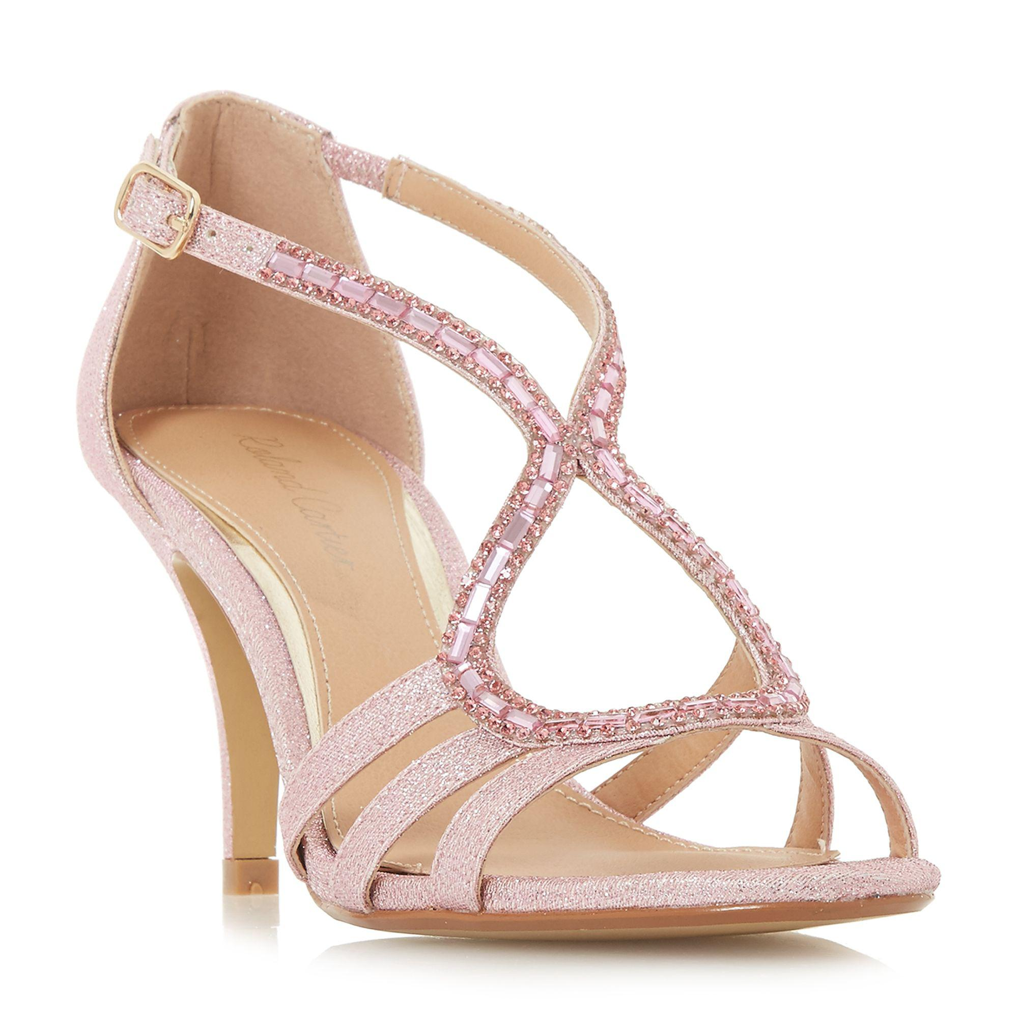 07666ad9b50 Roland Cartier Pink  mikayla  Ankle Strap Sandals in Pink - Lyst