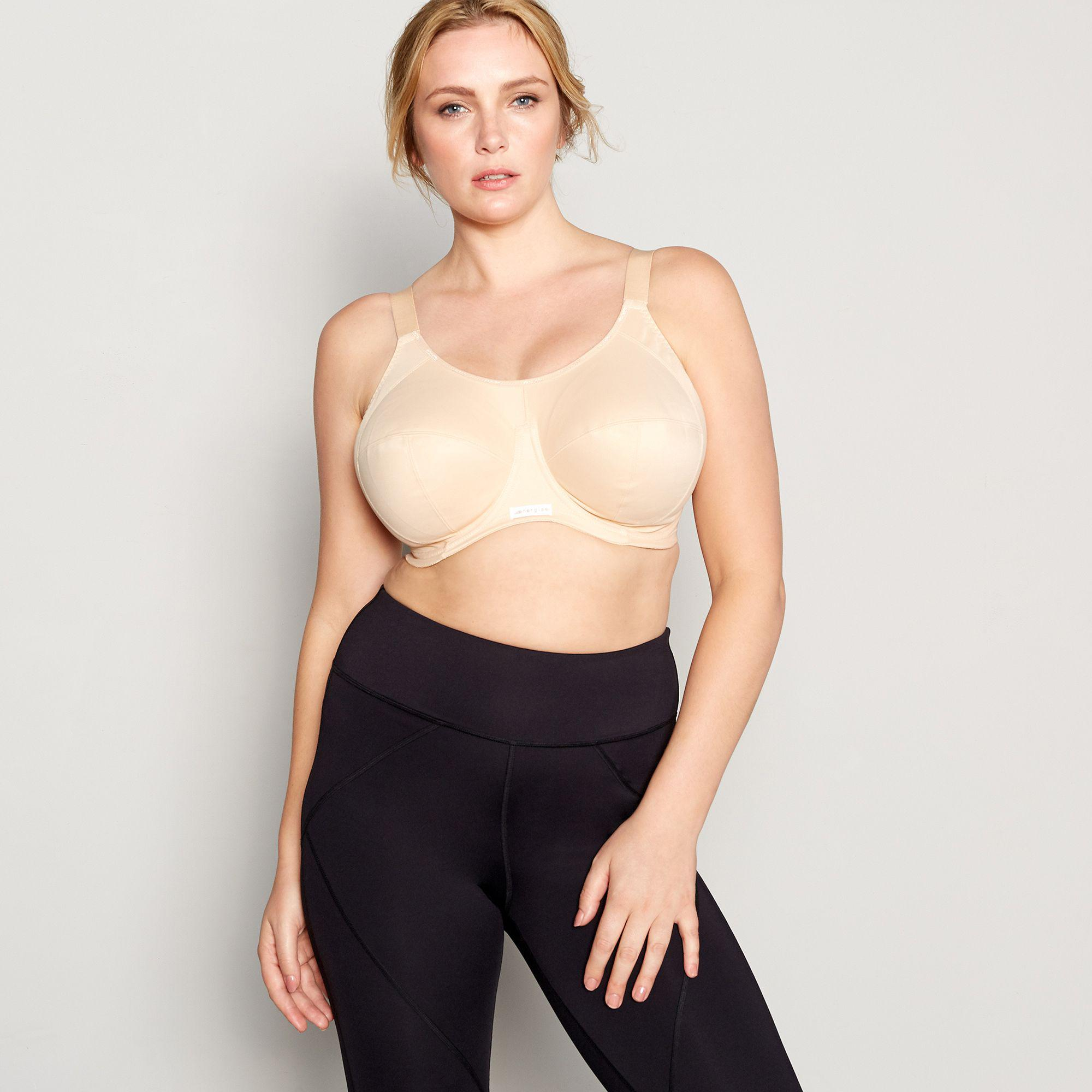 0120c90451 Elomi Natural  energise  Underwired Non-padded Sports Bra in Natural ...