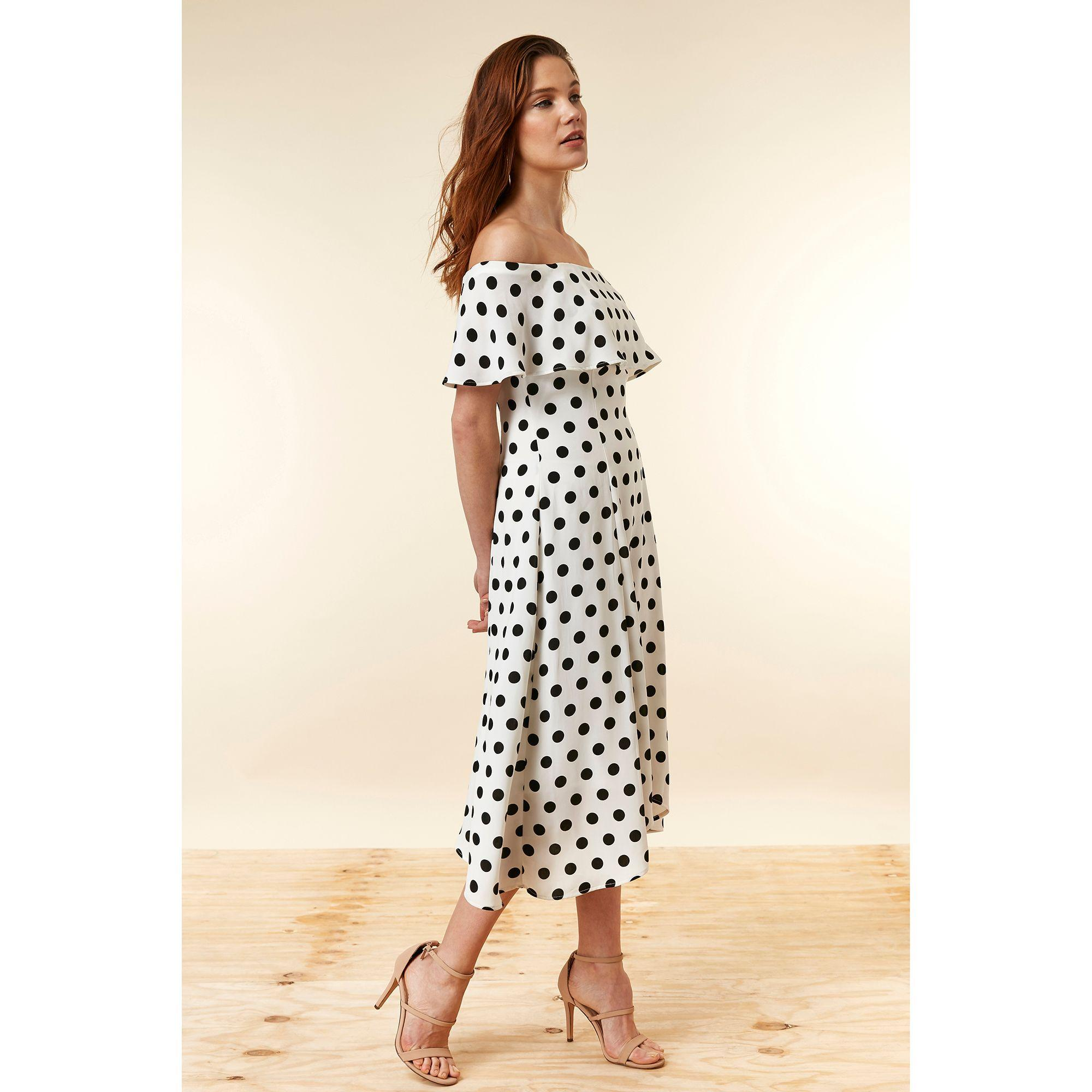 e4574fdf55c Wallis. Women s Ivory Spot Bardot Dress