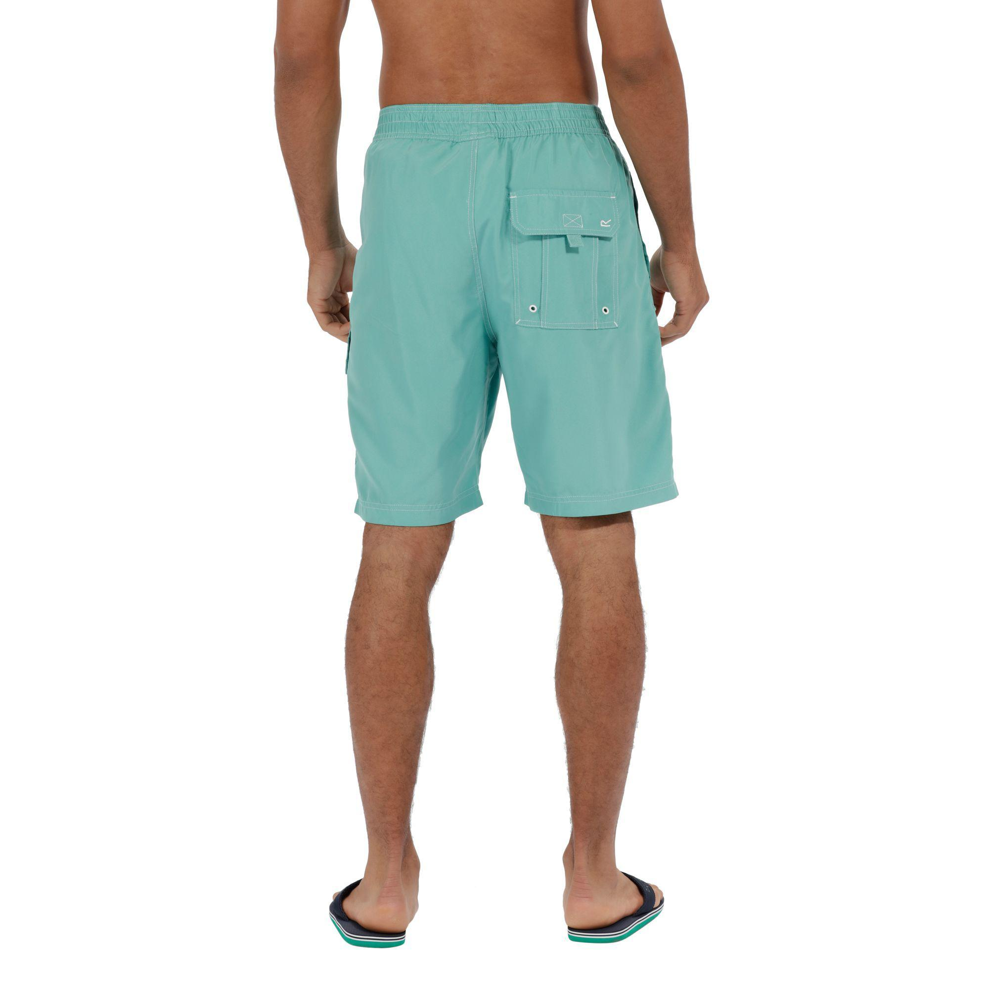 635304855e Regatta - Green 'hotham' Swim Board Shorts for Men - Lyst. View fullscreen