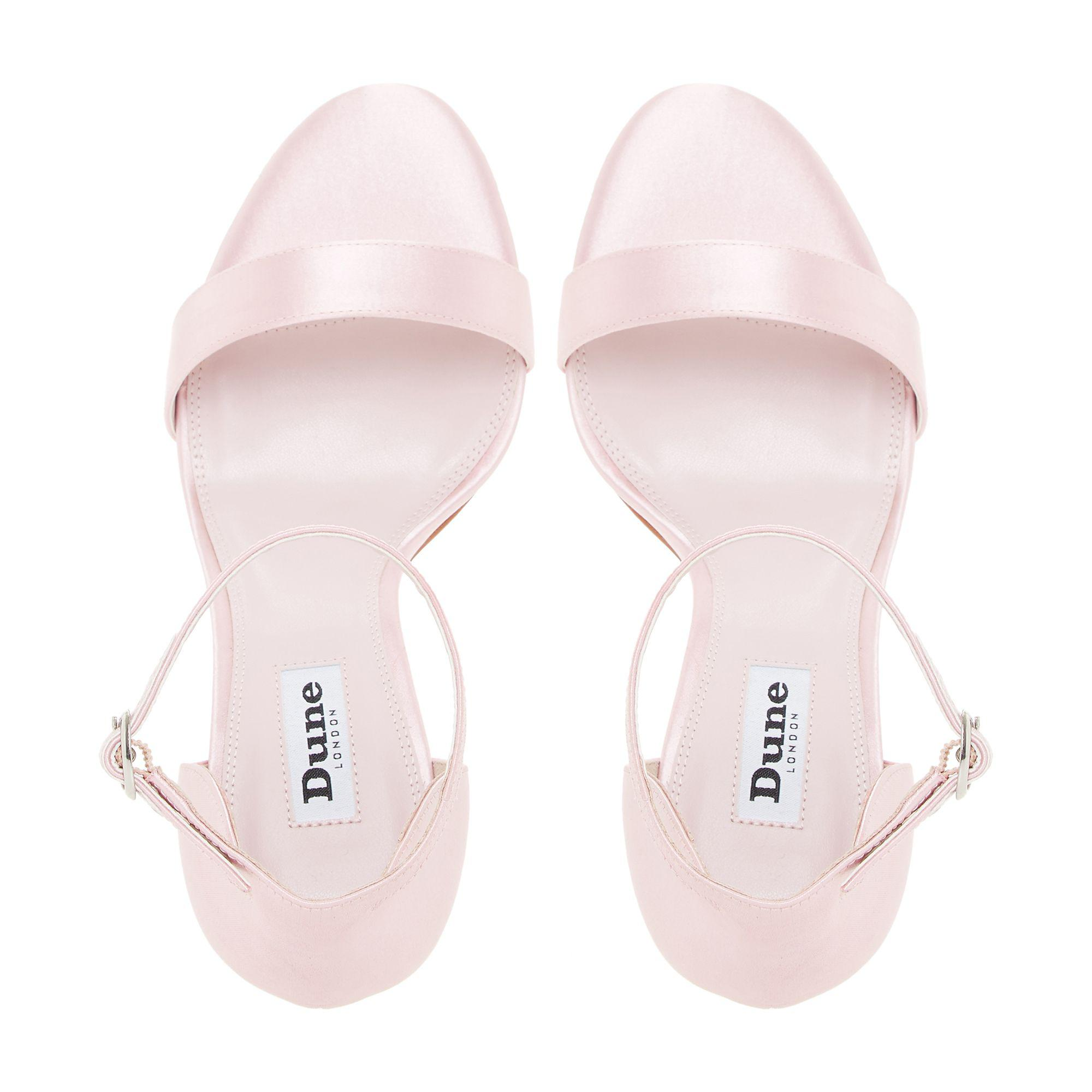 37e51af5f39 Dune Pale Pink  maides  High Stiletto Heel Ankle Strap Sandals in ...