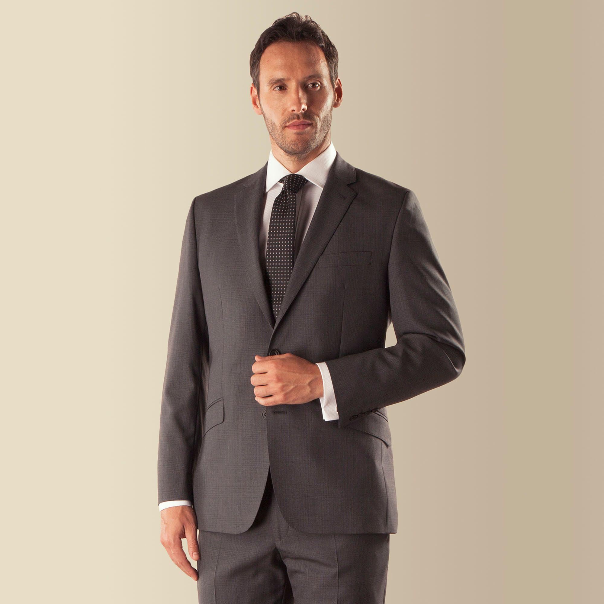 de6716f13c4a0b J By Jasper Conran - Gray Grey Check 2 Button Front Tailored Fit Luxury  Suit Jacket. View fullscreen