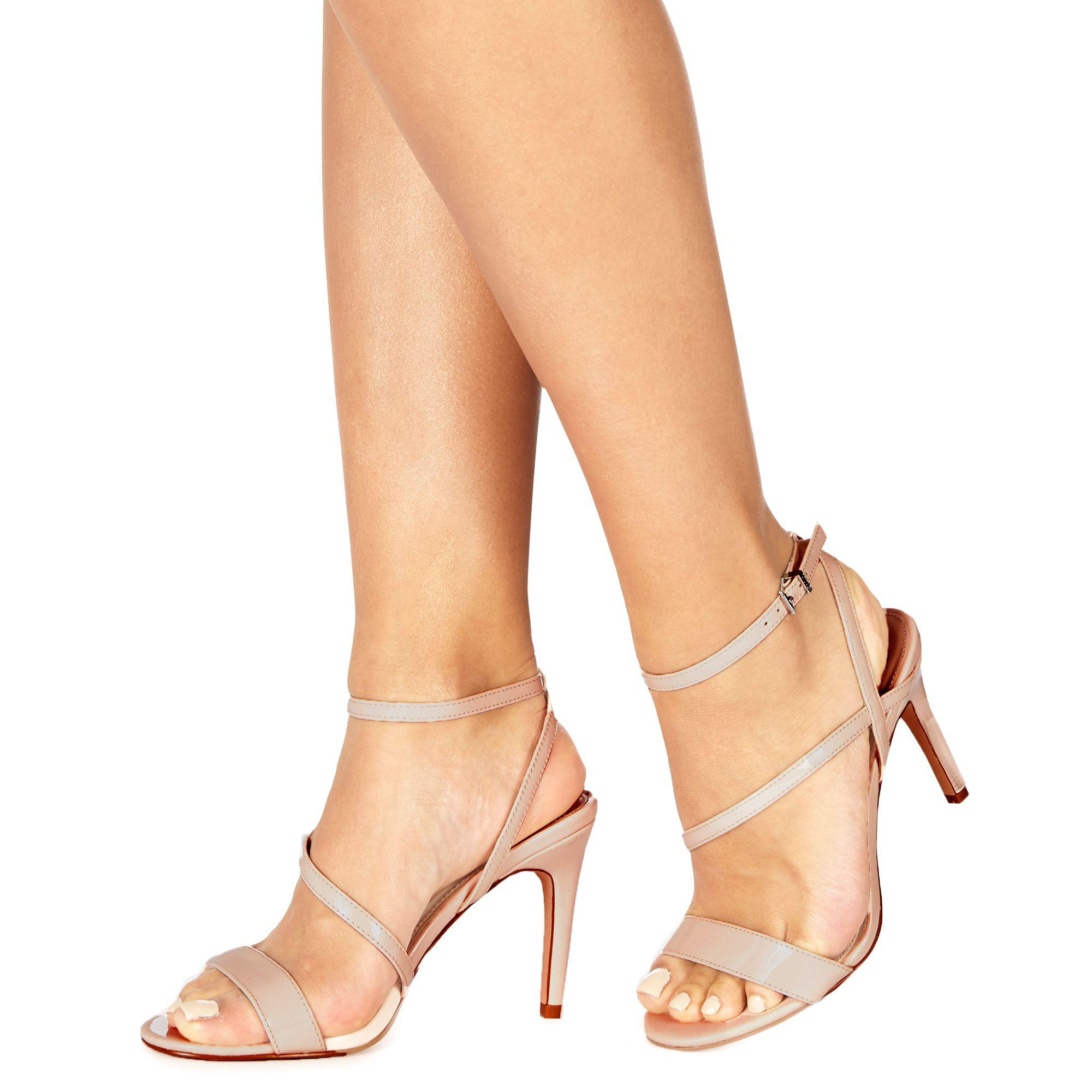 6243c66fc1c Faith Natural  delly  High Heel Wide Fit Ankle Strap Sandals in ...
