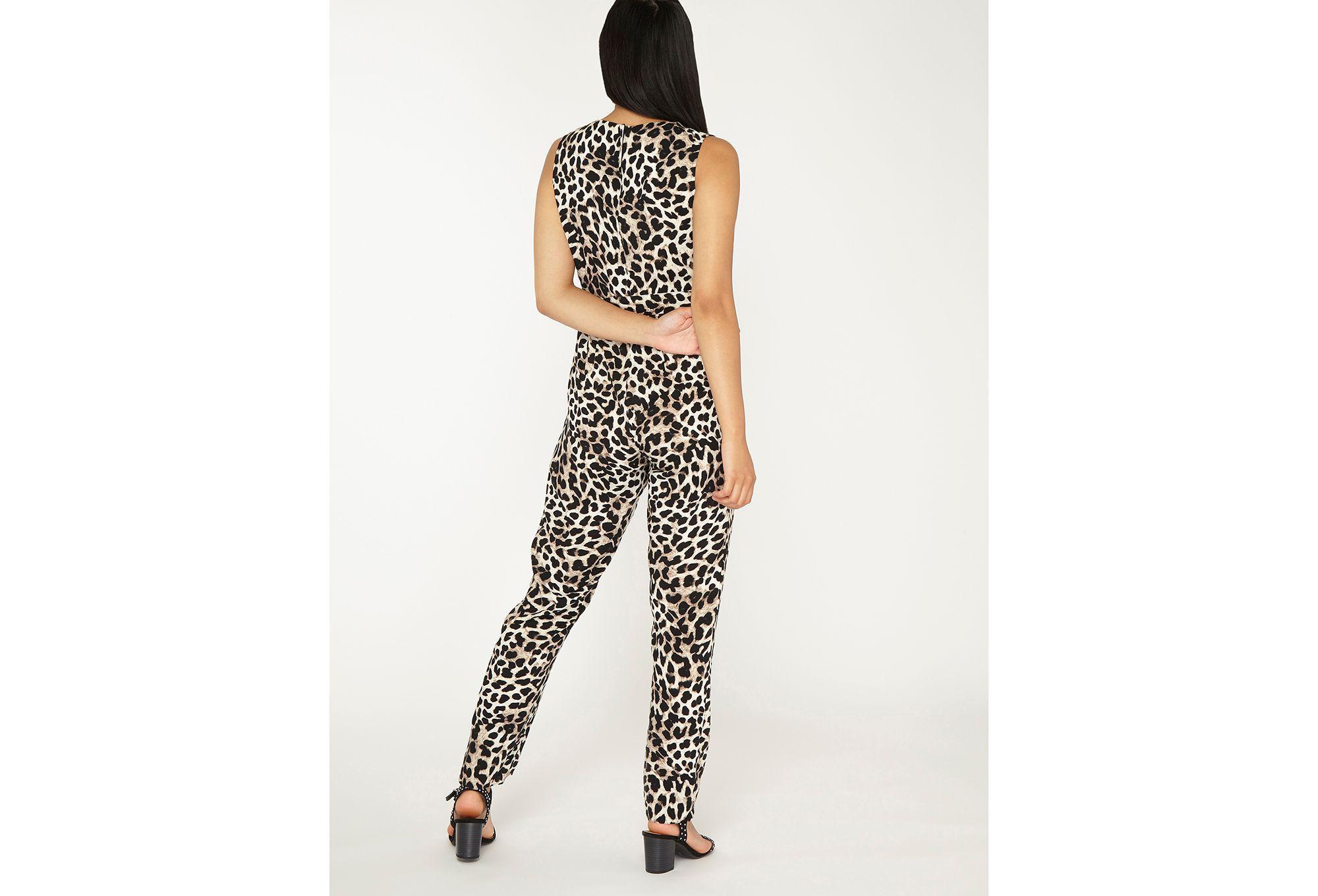 8c8b58f9f1b4 Dorothy Perkins Petite Animal Jumpsuit - Lyst
