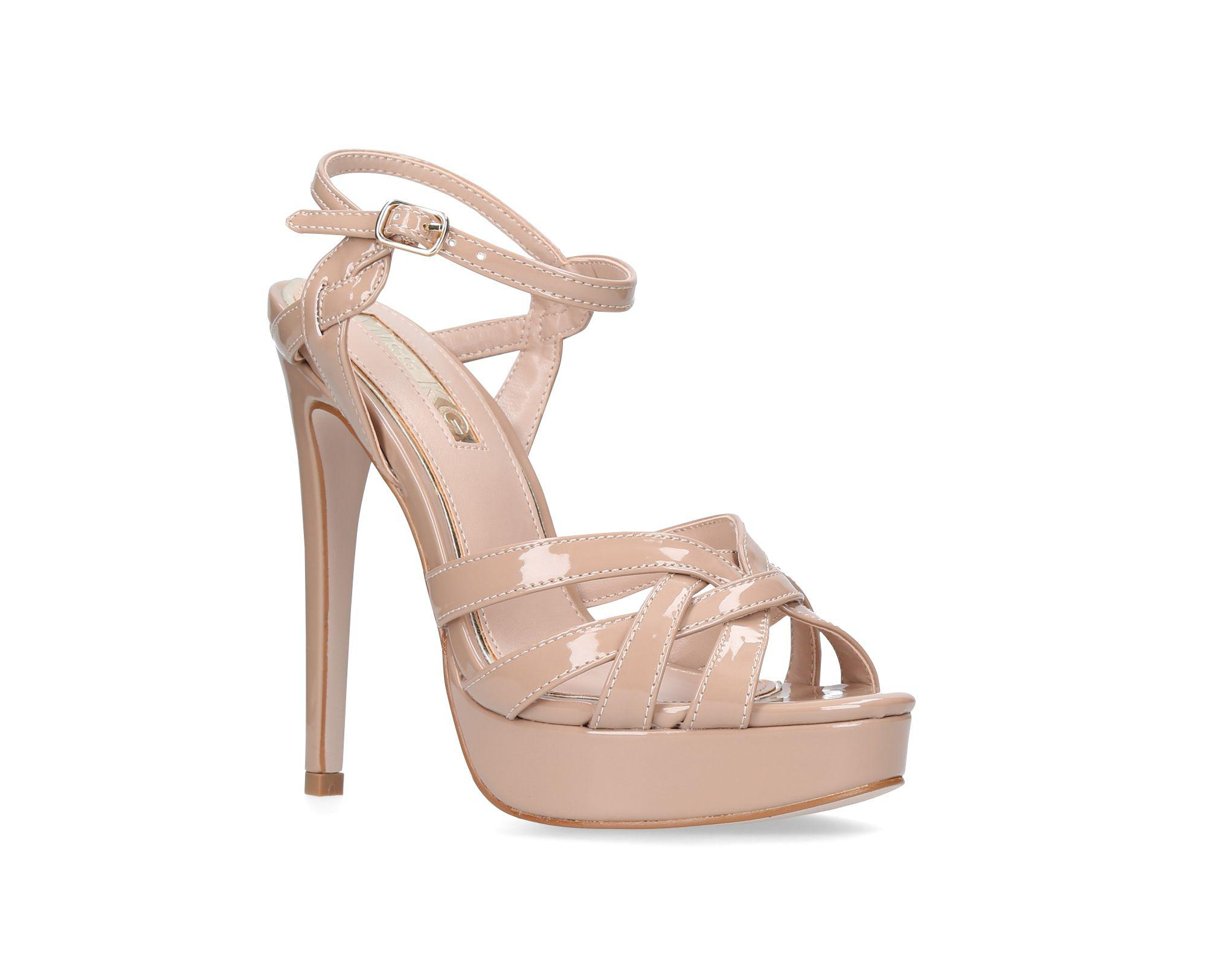 aa7c69701564 Miss Kg Nude  samia  High Heel Sandals in Natural - Lyst