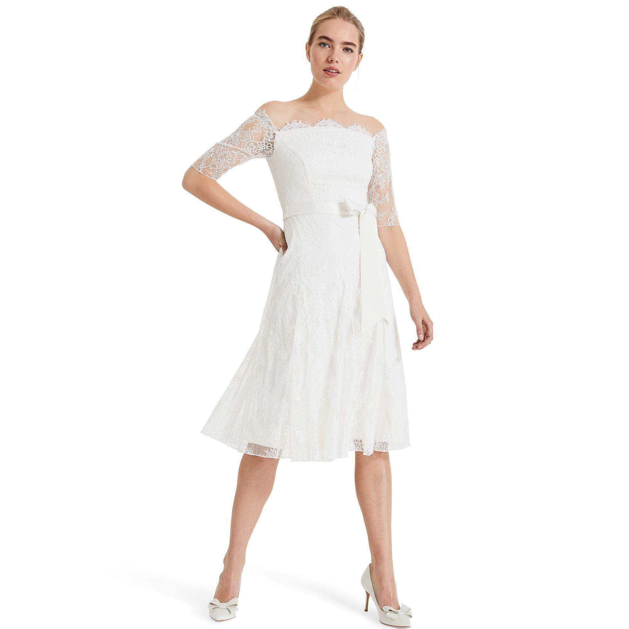 bba5adfeddf9b2 Phase Eight White Evette Lace Bridal Dress in White - Lyst