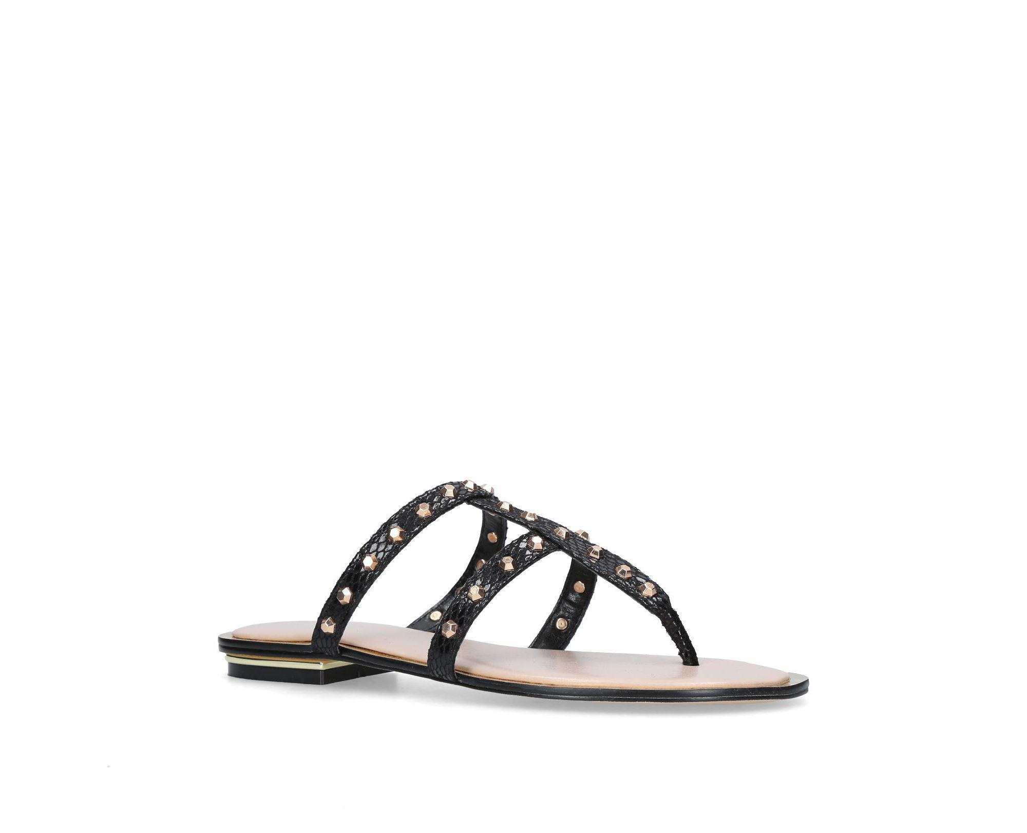28f8436e4f5 Carvela Kurt Geiger Black  brink  Flat Sandals in Black - Lyst