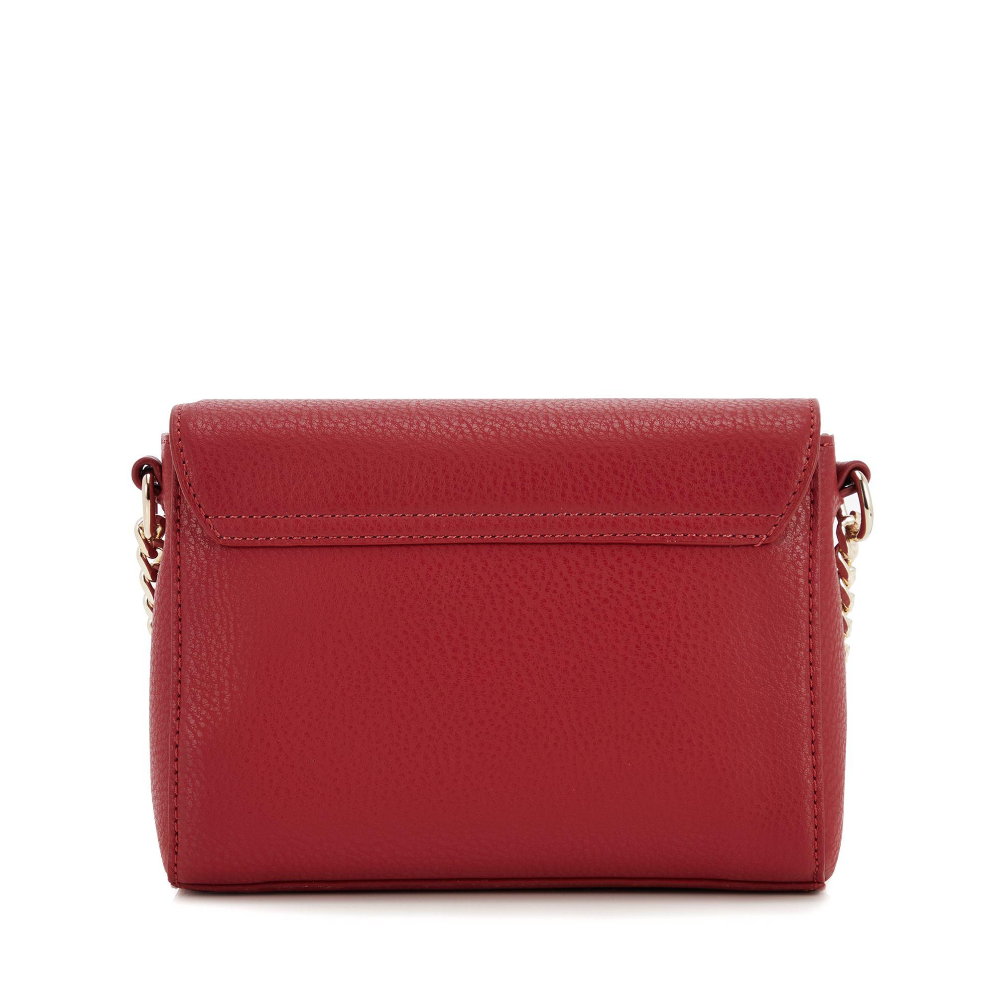 Versace Jeans Red Mini Cross Body Bag in Red - Lyst 6ce50d6ca0d8a