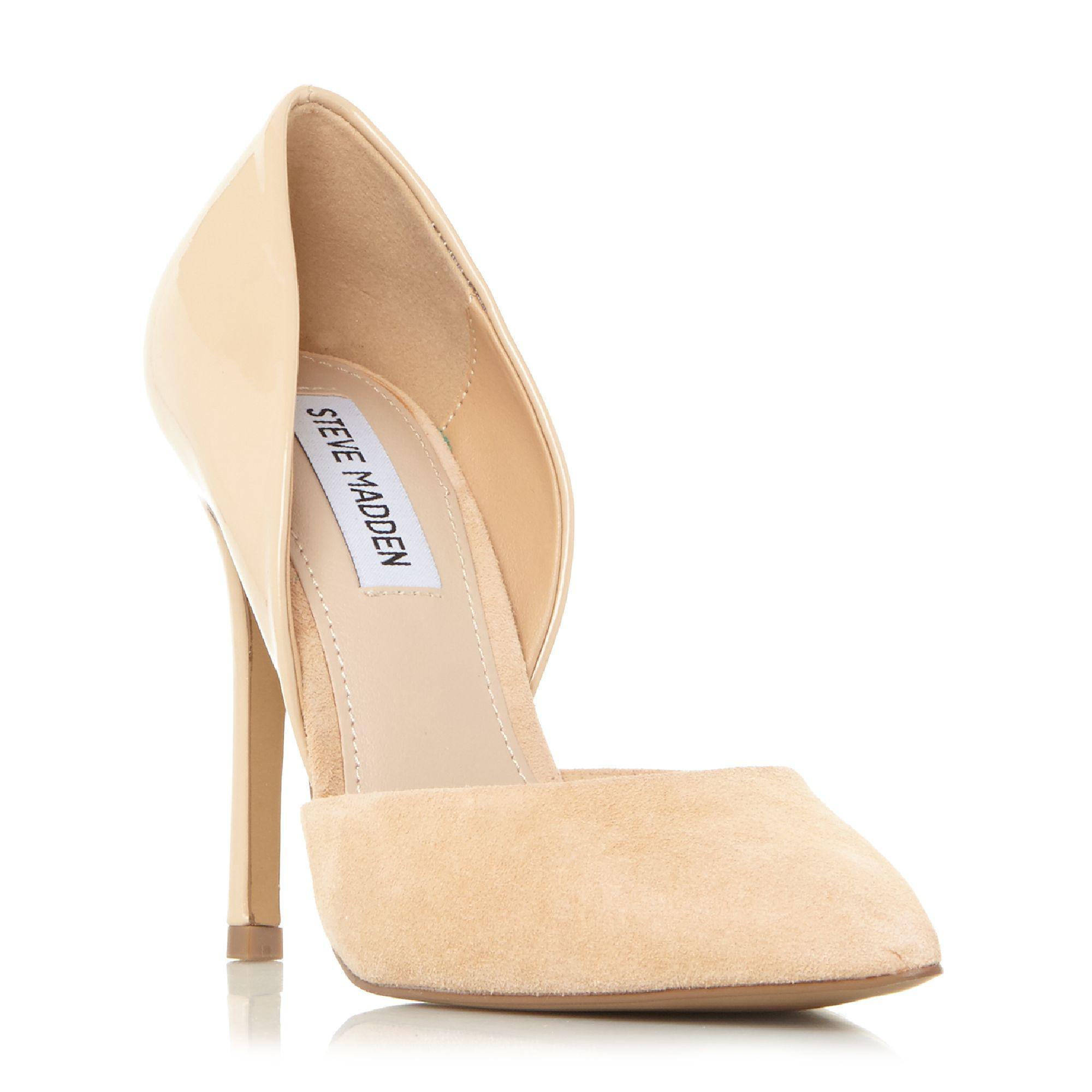 5137399c9e6 Steve Madden Natural Suede 'vertigo' High Stiletto Heel Court Shoes ...