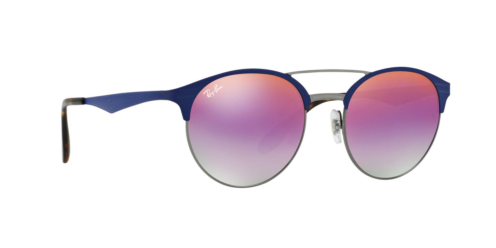 72c68ff0ad Ray-Ban Gunmetal Round Rb3545 Sunglasses in Blue for Men - Lyst