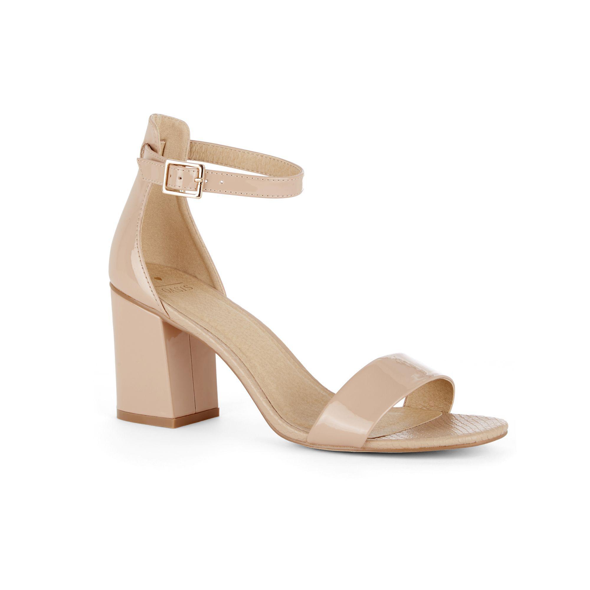 893e0d940ea Oasis Rhea Block Heel Sandals in Natural - Lyst