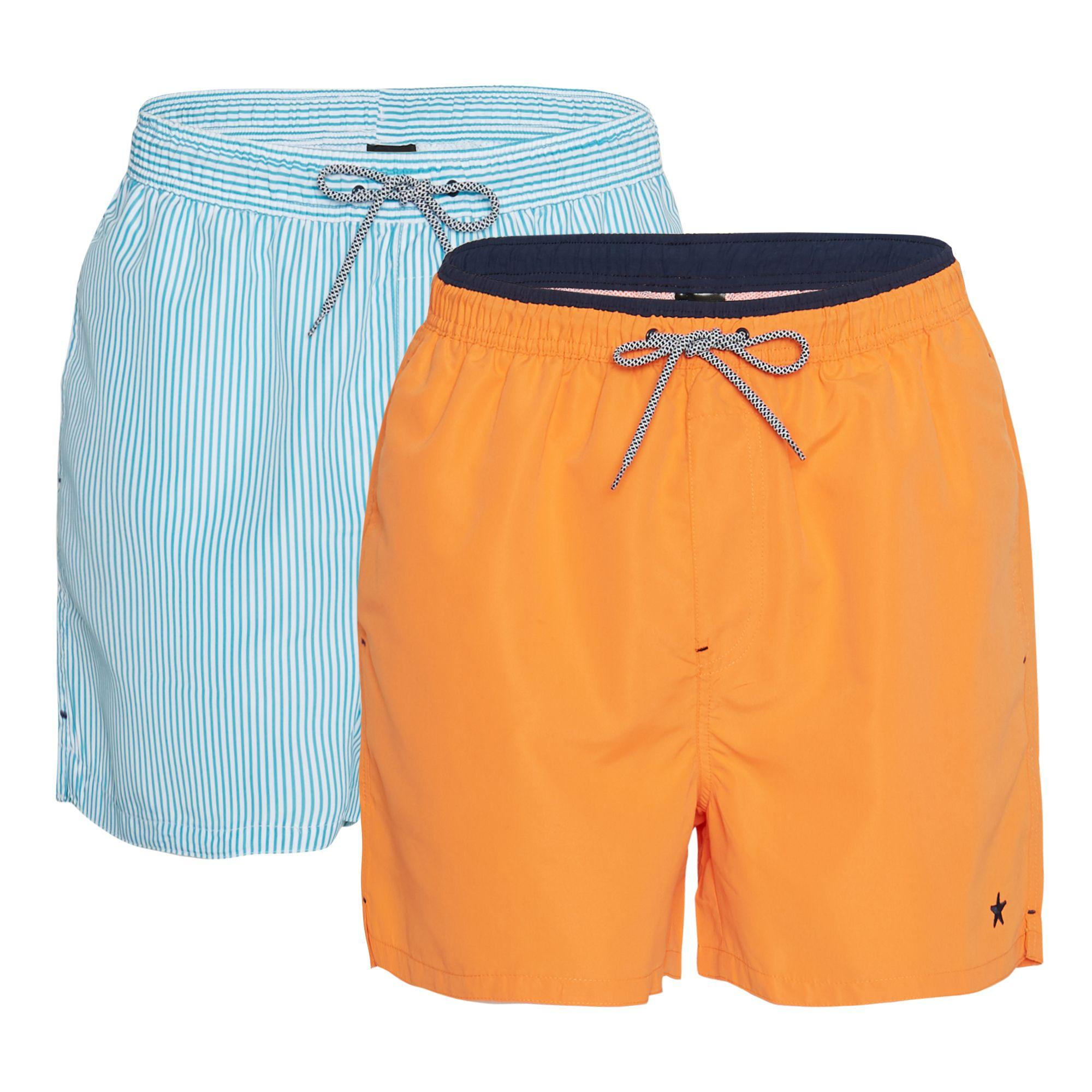 682e39d8baad8 Jacamo Big And Tall 2 Pack Orange And Blue Swim Shorts in Orange for ...