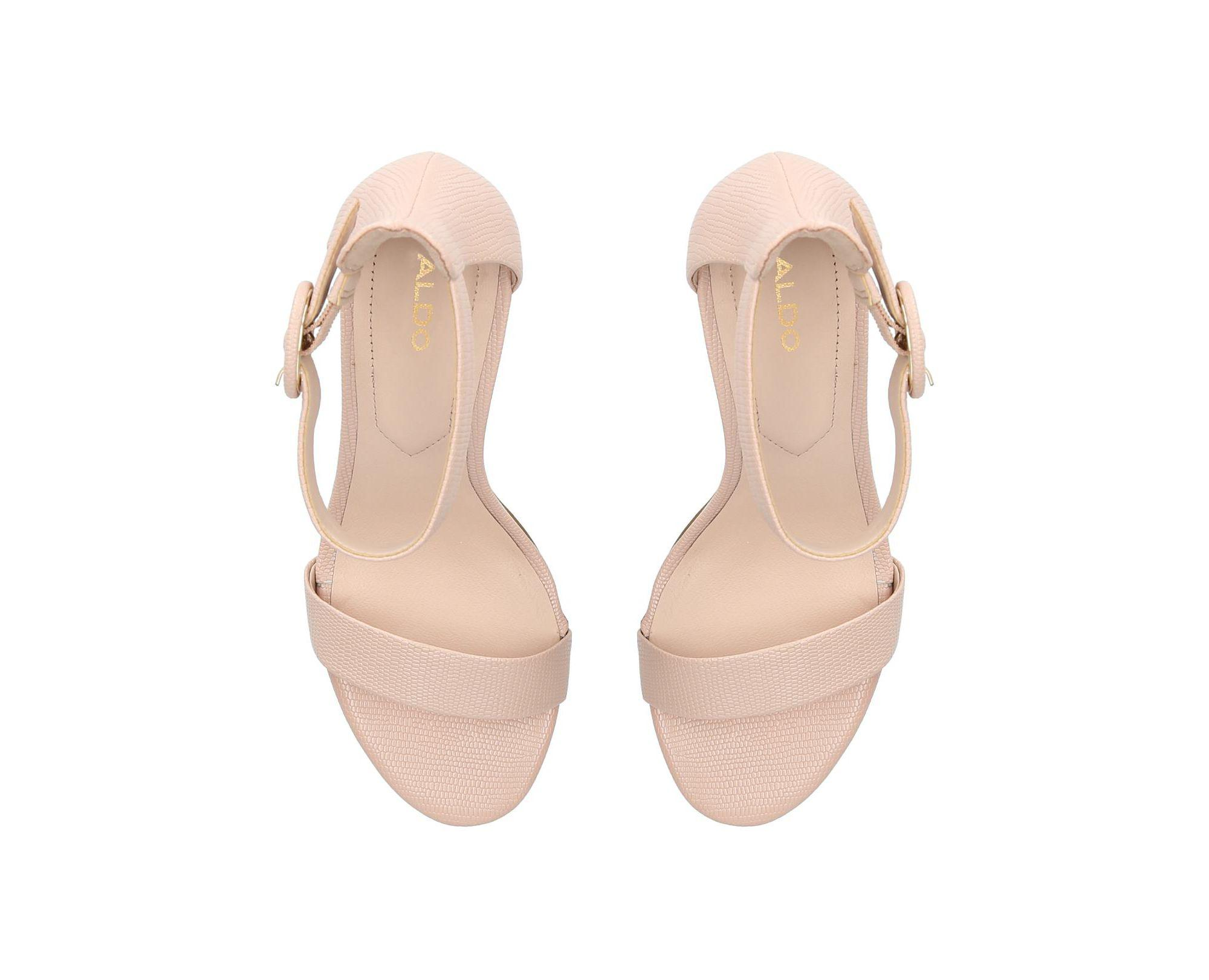 573abc319f46 ALDO - Natural Nude  yenalia  Strappy Heeled Sandals - Lyst. View fullscreen