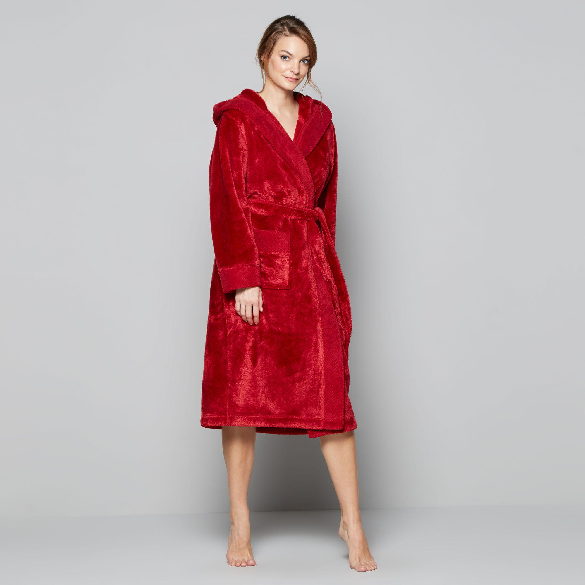 J By Jasper Conran Red Fleece Dressing Gown in Red - Lyst 617e6dc1c