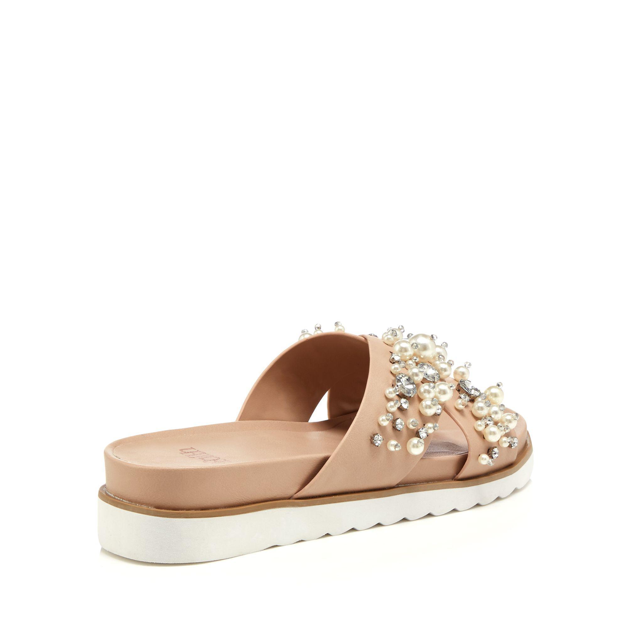 85ef74bd26c9 Faith Pink  jazzy  Diamante Embellished Flip Flops in Pink - Lyst