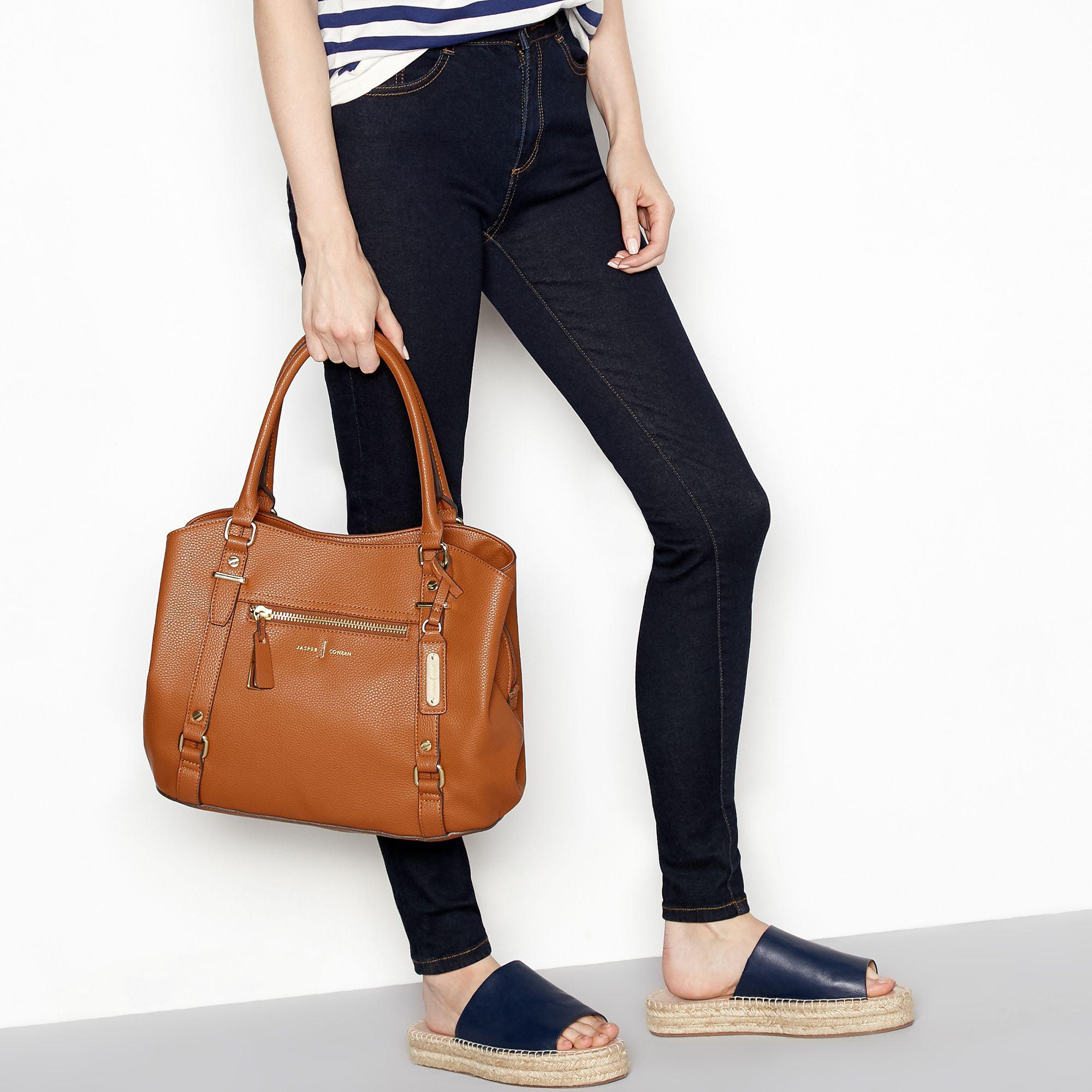 d63640a65039 J By Jasper Conran - Brown Tan Zip Detail Hobo Shoulder Bag - Lyst. View  fullscreen