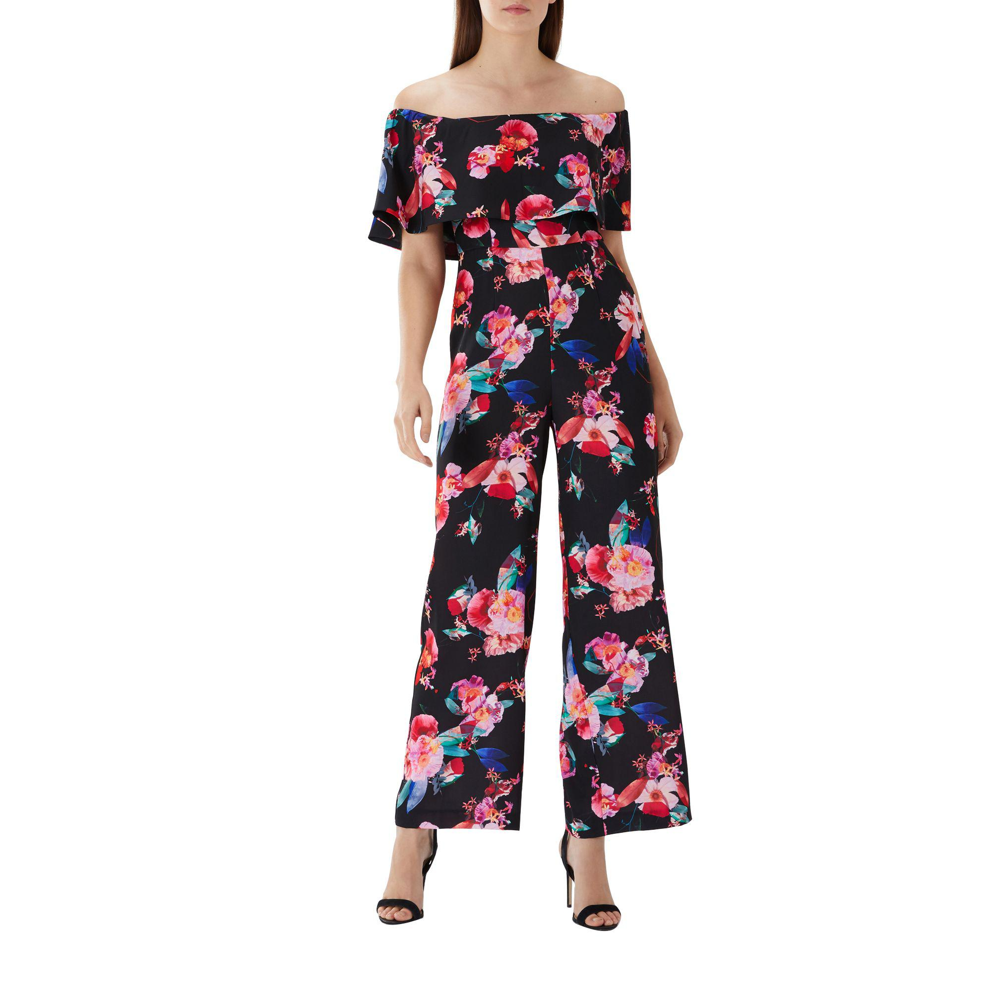 3450bd03aca Coast Floral Print  naima  Bardot Jumpsuit - Lyst