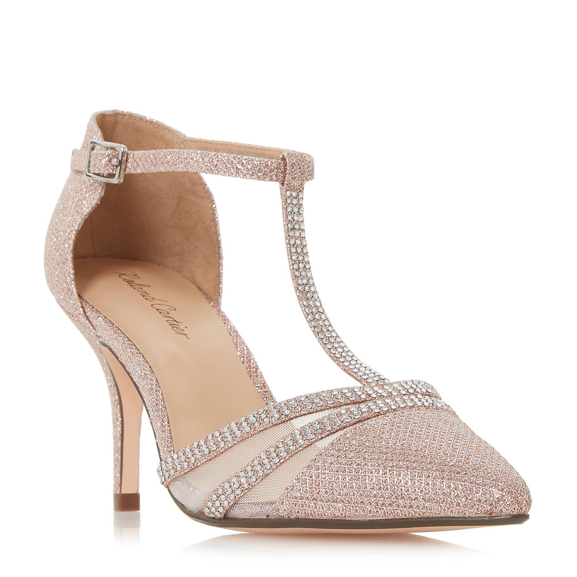 fc5bc2bda56 Roland Cartier Rose  dennice  Mid Stiletto Heel Ankle Strap Sandals ...