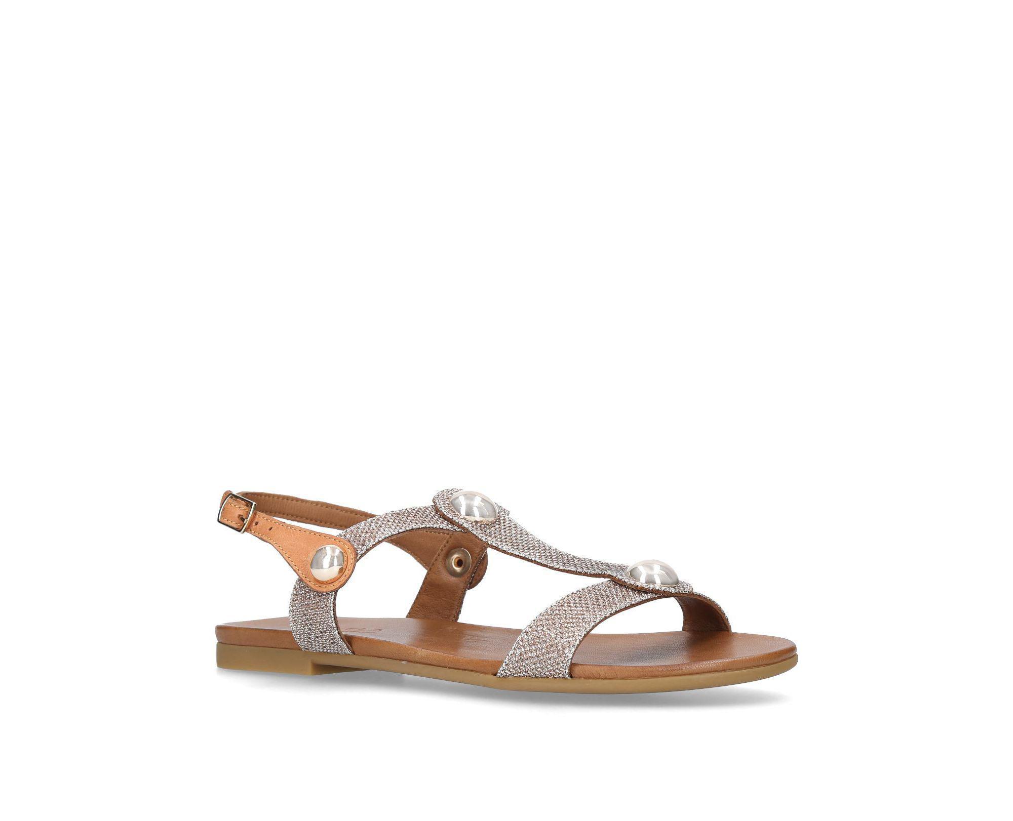 b22ce128e3ae Carvela Kurt Geiger Gold  saz  Flat Sandals in Metallic - Save 40 ...