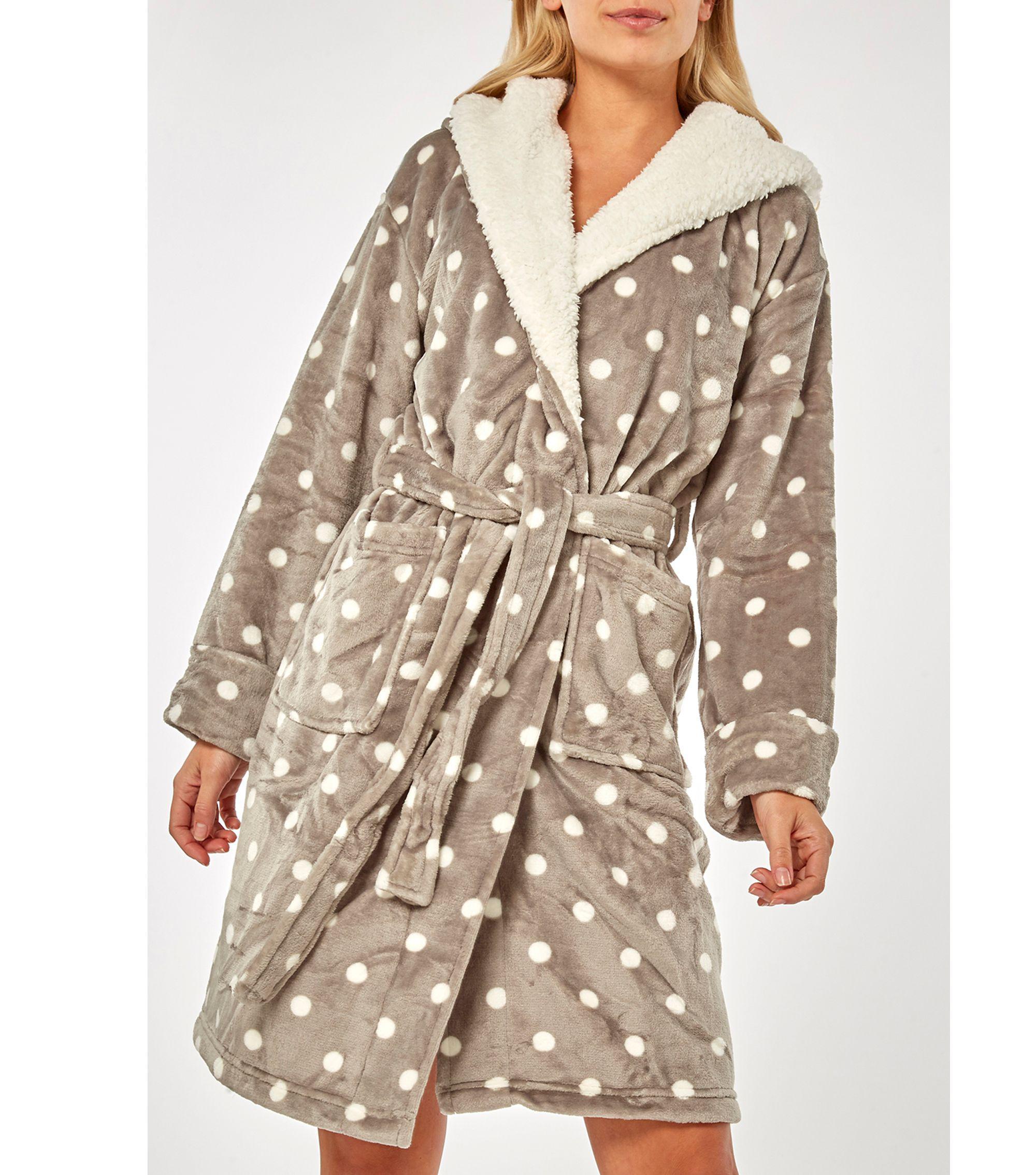 3c7a40a1f2 Dorothy Perkins. Women s Gray Grey Polka Dot Bear Ear Robe. £29 £23 From  Debenhams
