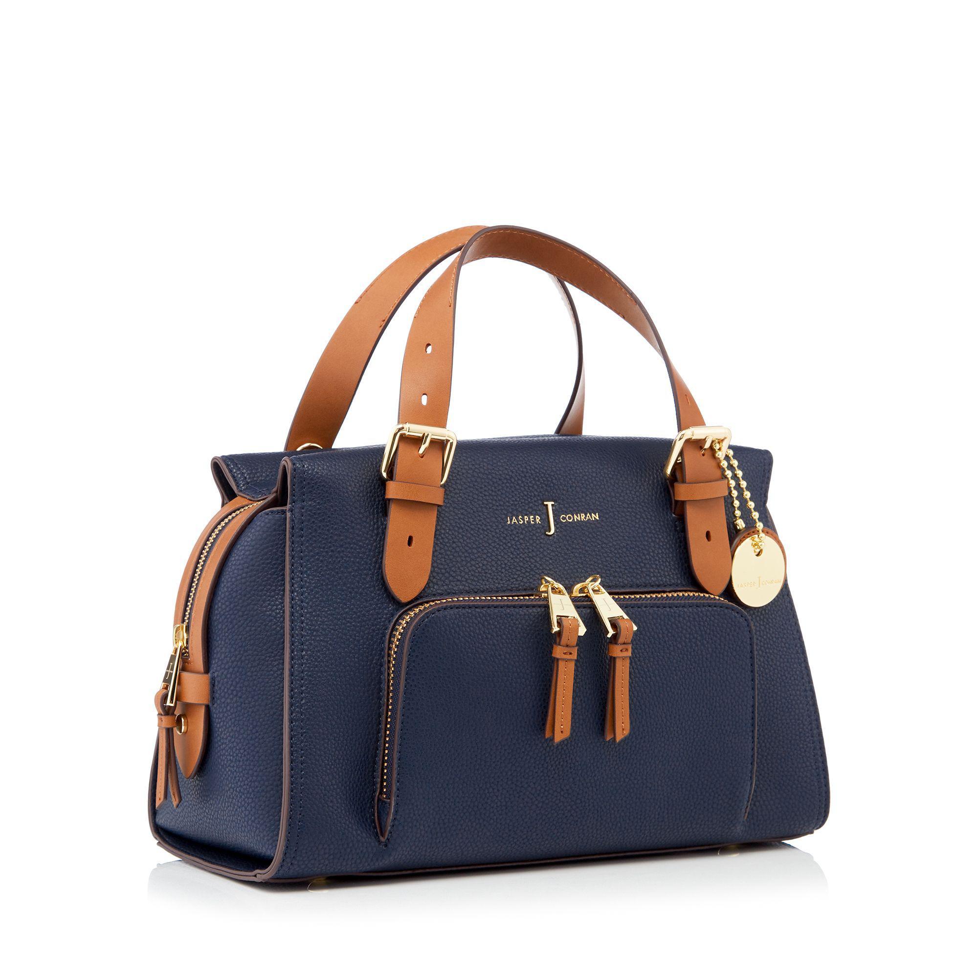 eceb51a48f89 J By Jasper Conran Navy Faux Leather  holland Park  Grab Bag in Blue ...