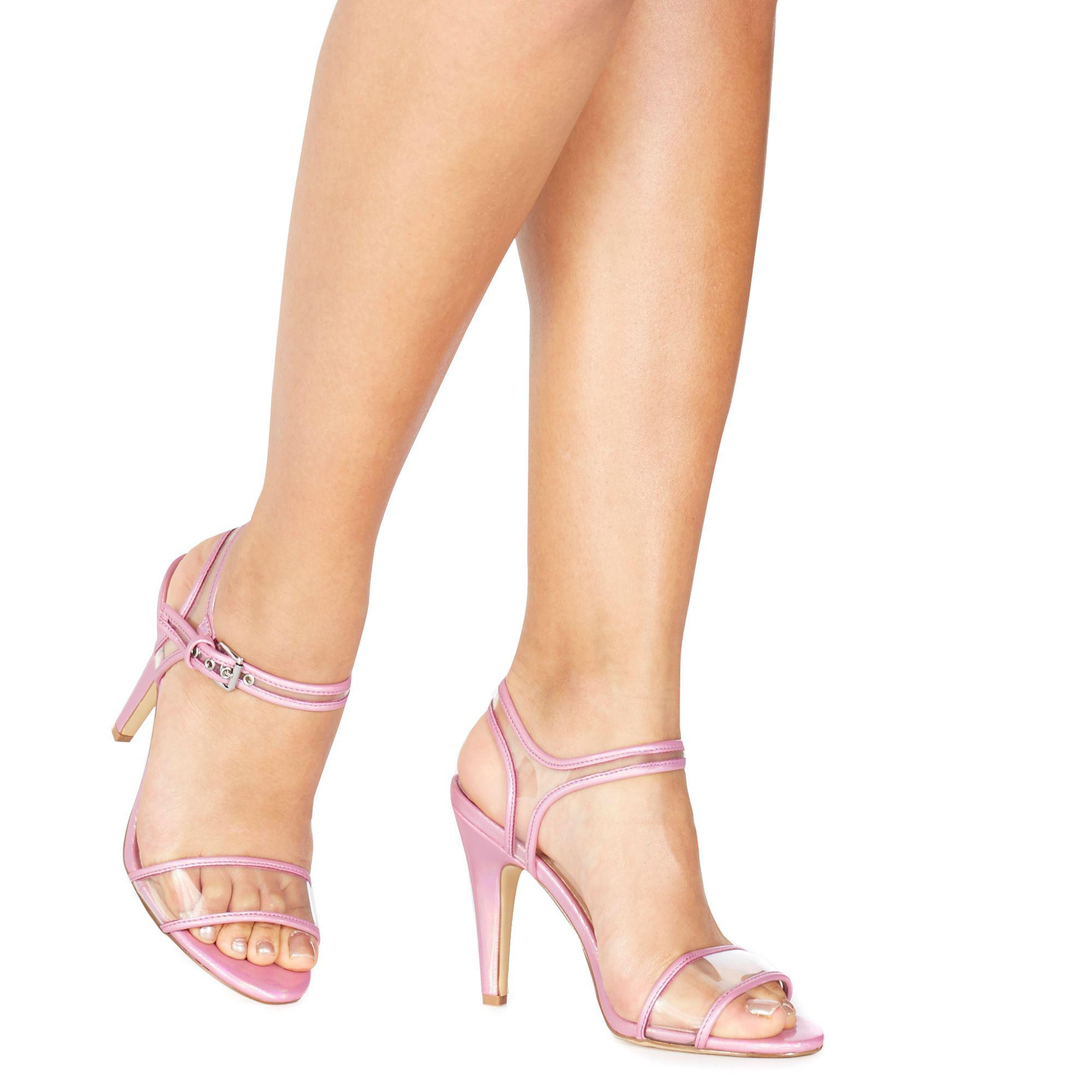 5aa3349ae451 Faith. Women s Pink Purple  diddy  High Stiletto Heel Ankle Strap Sandals