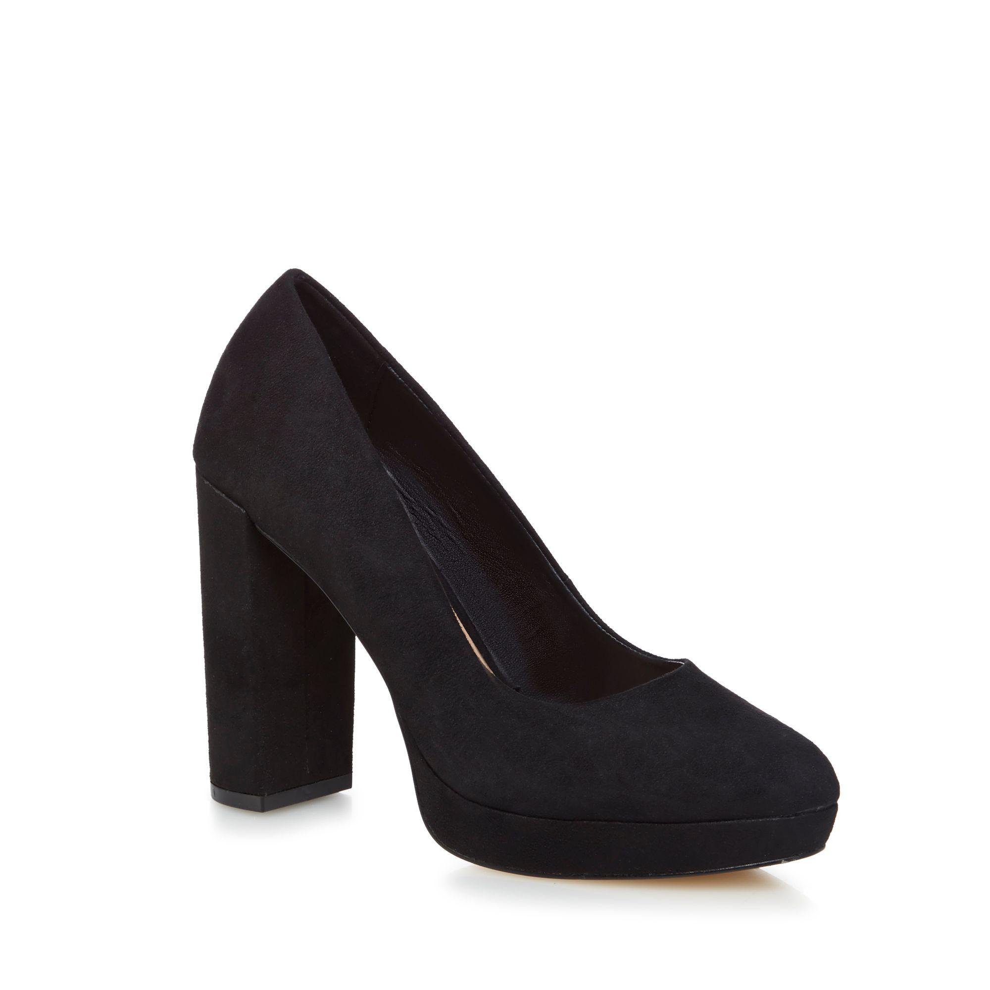 Black suedette 'Frantoio' high block heel court shoes free shipping how much PyODt