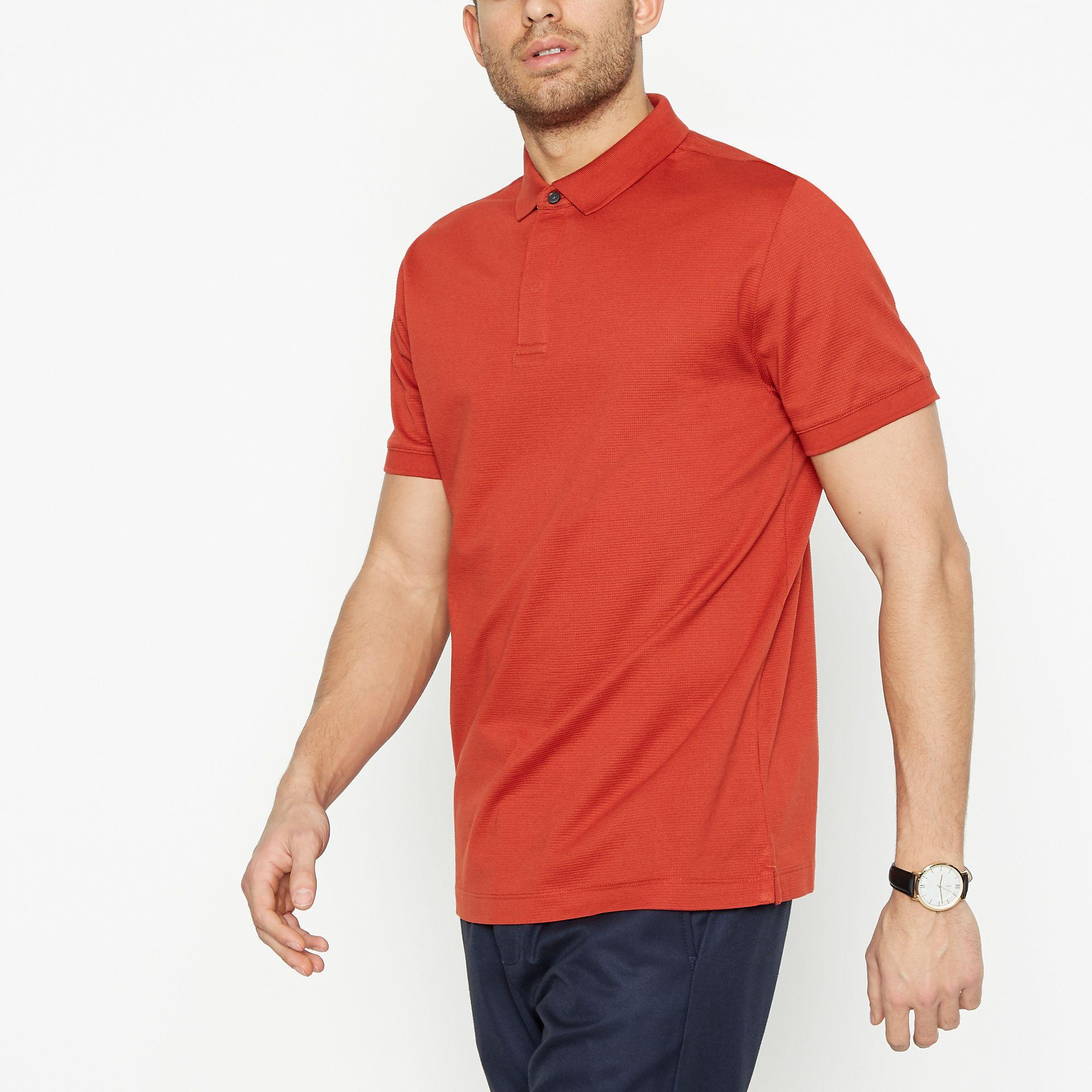 34d0253d J By Jasper Conran Big And Tall Red Textured Polo Shirt in Red for ...