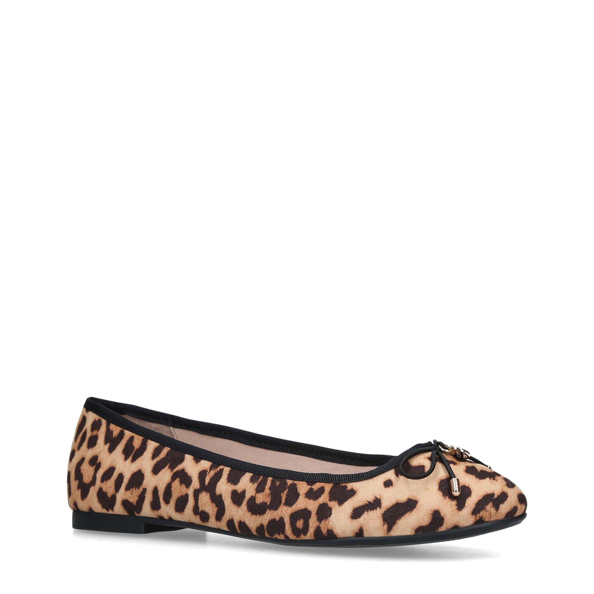 9f5bfa1a8 Miss Kg. Women s Brown Leopard  nelson  Print Ballerina Court Shoes