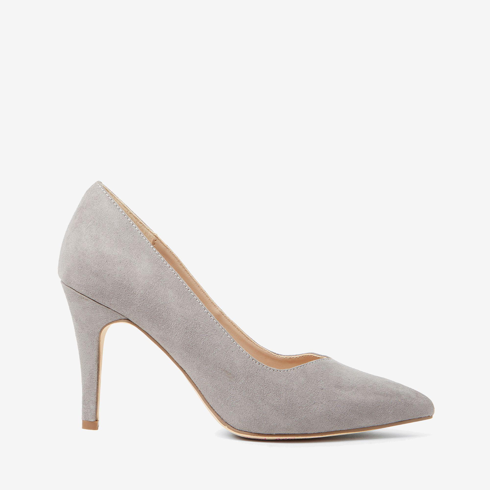 6009254d9a6 Dorothy Perkins. Women s Gray Wide Fit Grey Microfiber Drake Court Shoes