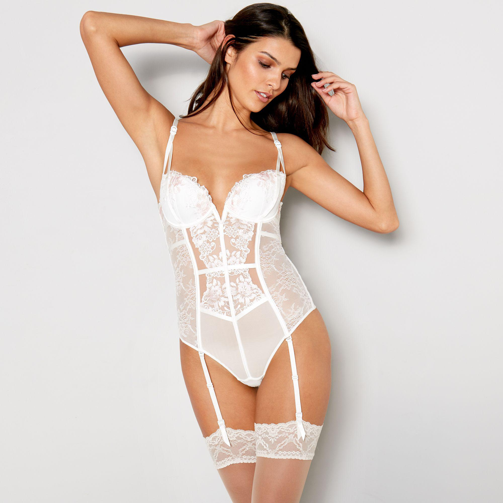 7cc47863af3bc Ann Summers Ivory Embroidered  paige  Body in White - Lyst