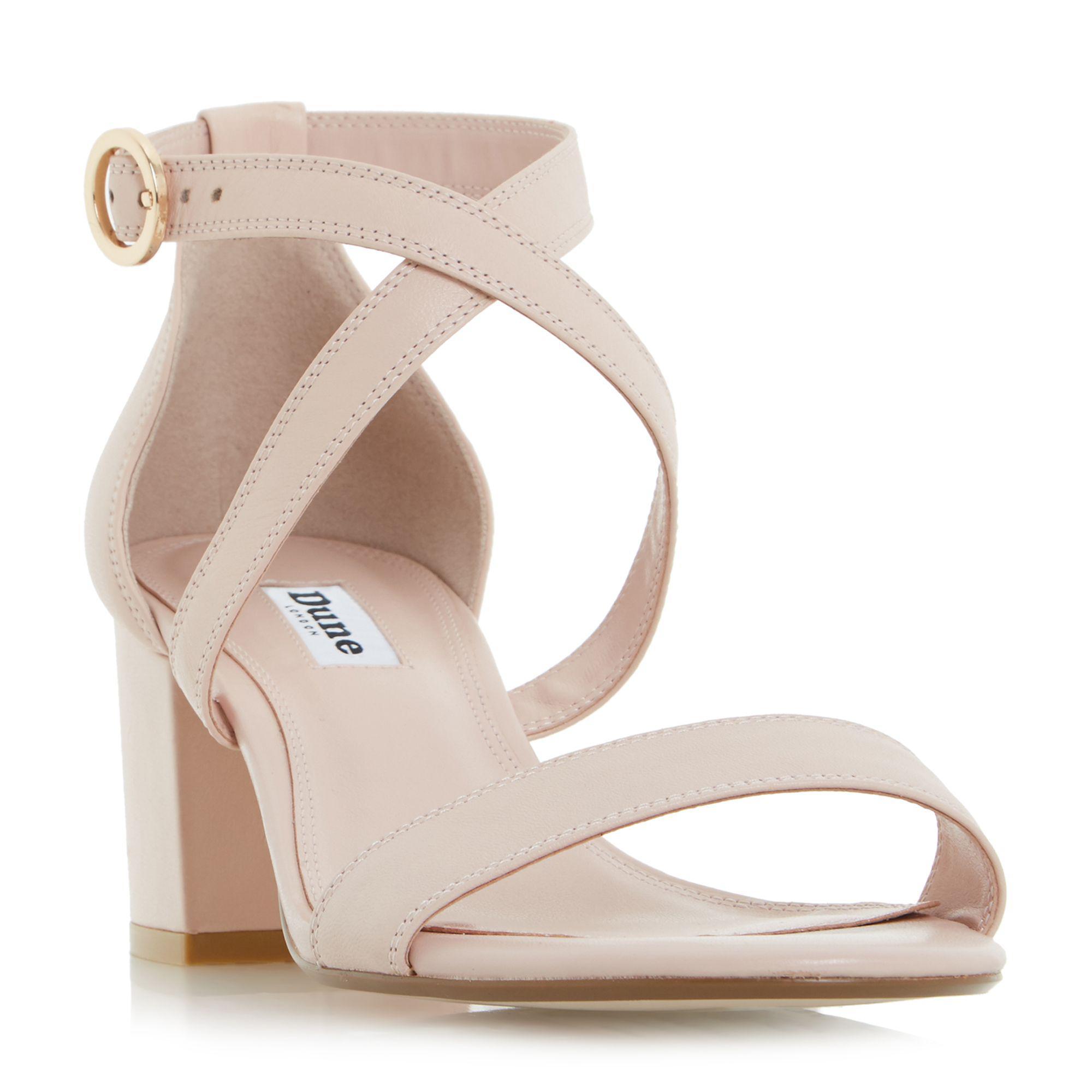 82f409a89d9 Dune - Light Pink  montie  Cross Strap Block Heel Sandals - Lyst. View  fullscreen