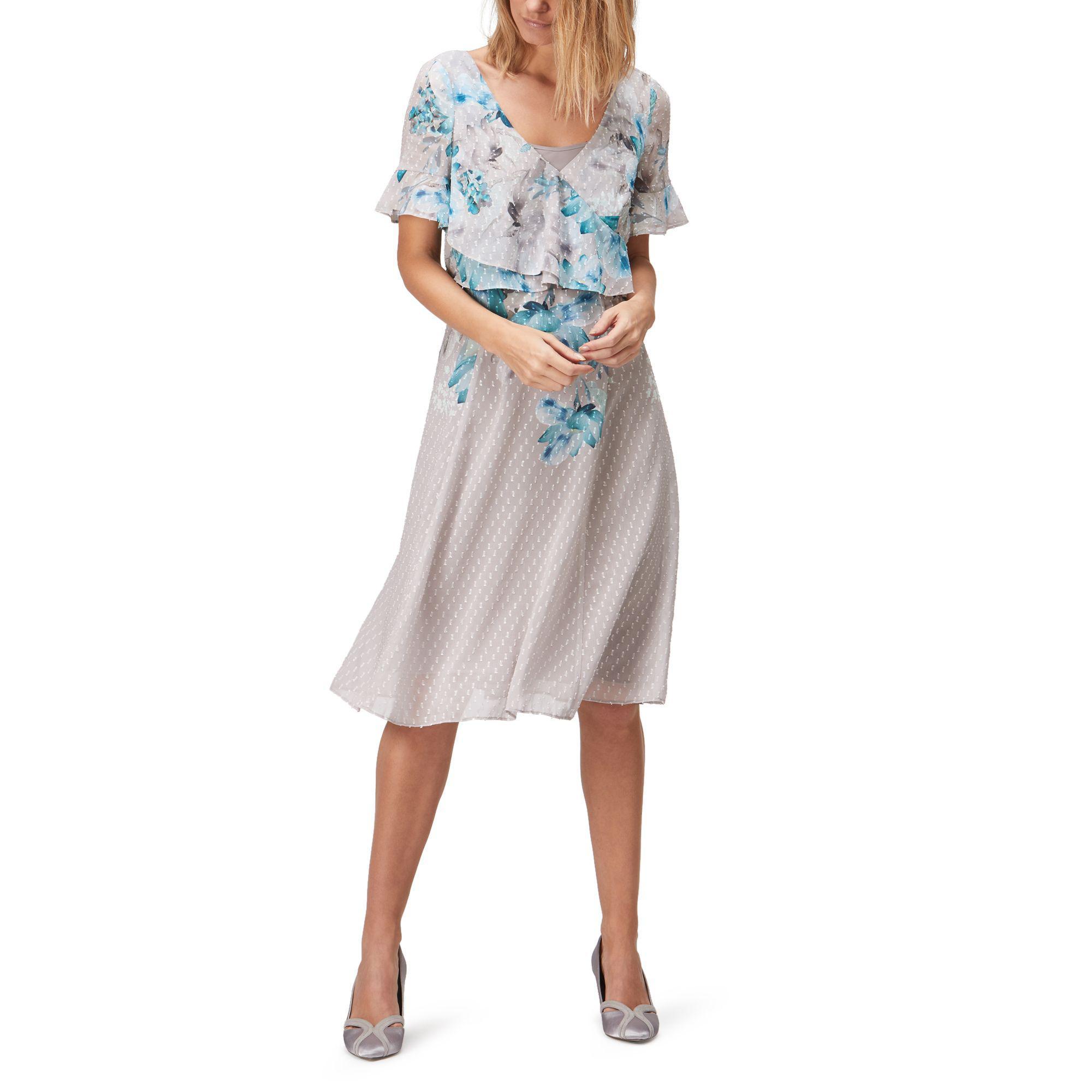 b7115139d4e Jacques Vert Printed Dobby Soft Dress - Lyst