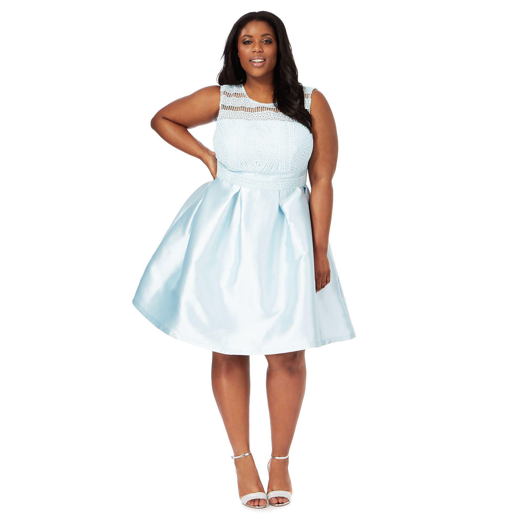 7278b64aa6f Light Blue Plus Size Cocktail Dress - raveitsafe