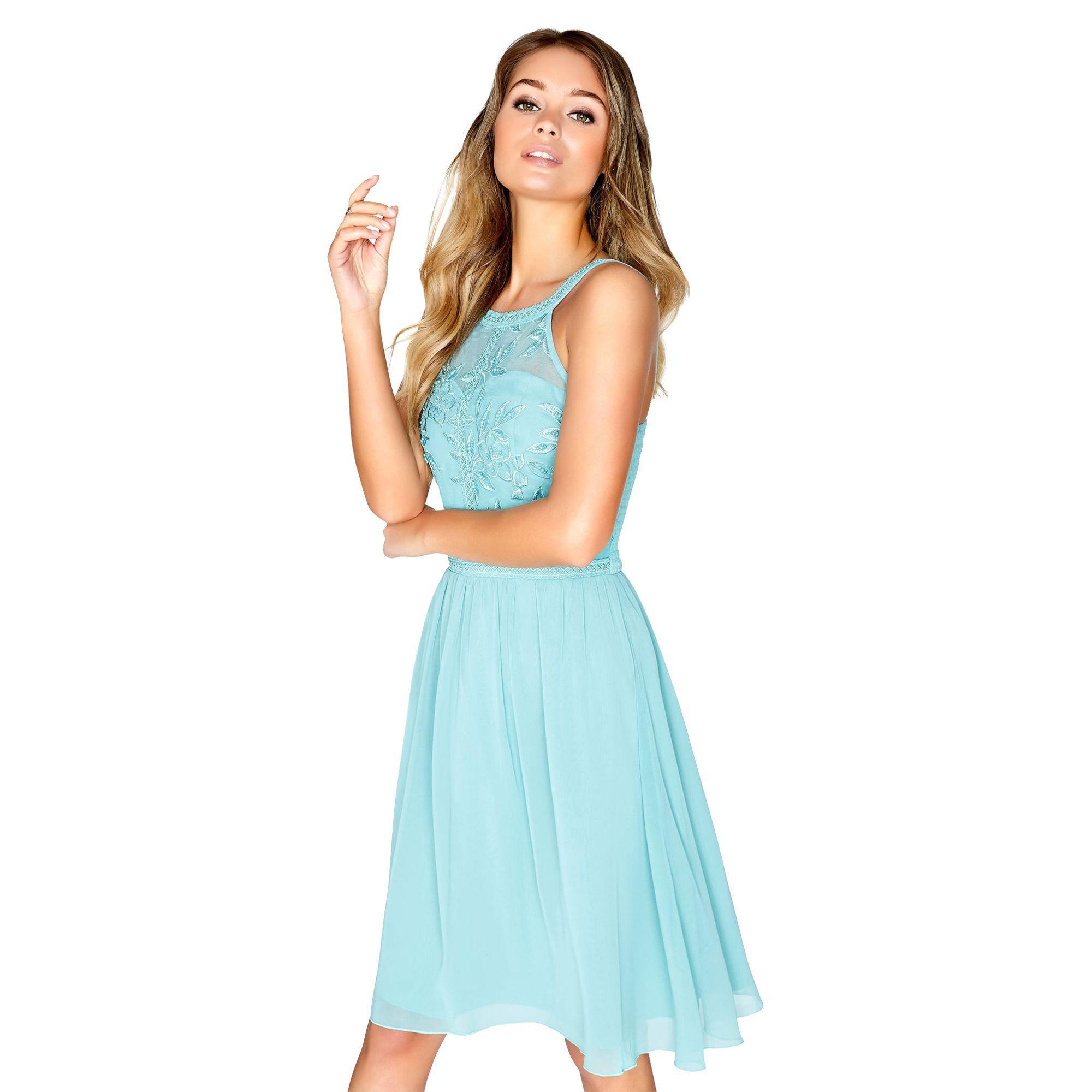 Lyst - Little Mistress Sage Prom Dress in Blue