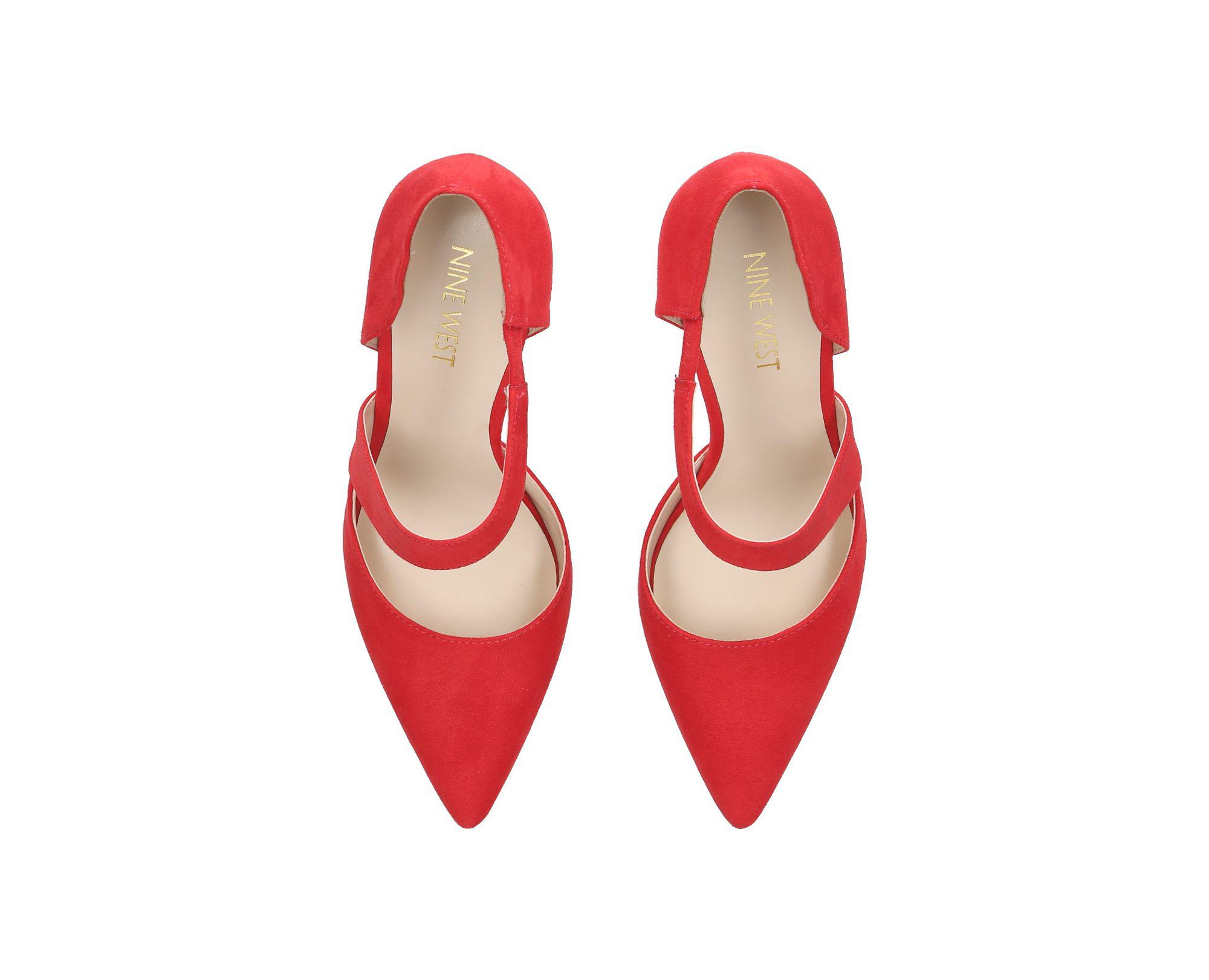 af9745c92c4 Nine West - Red Kremi High Heel Sandals - Lyst. View fullscreen