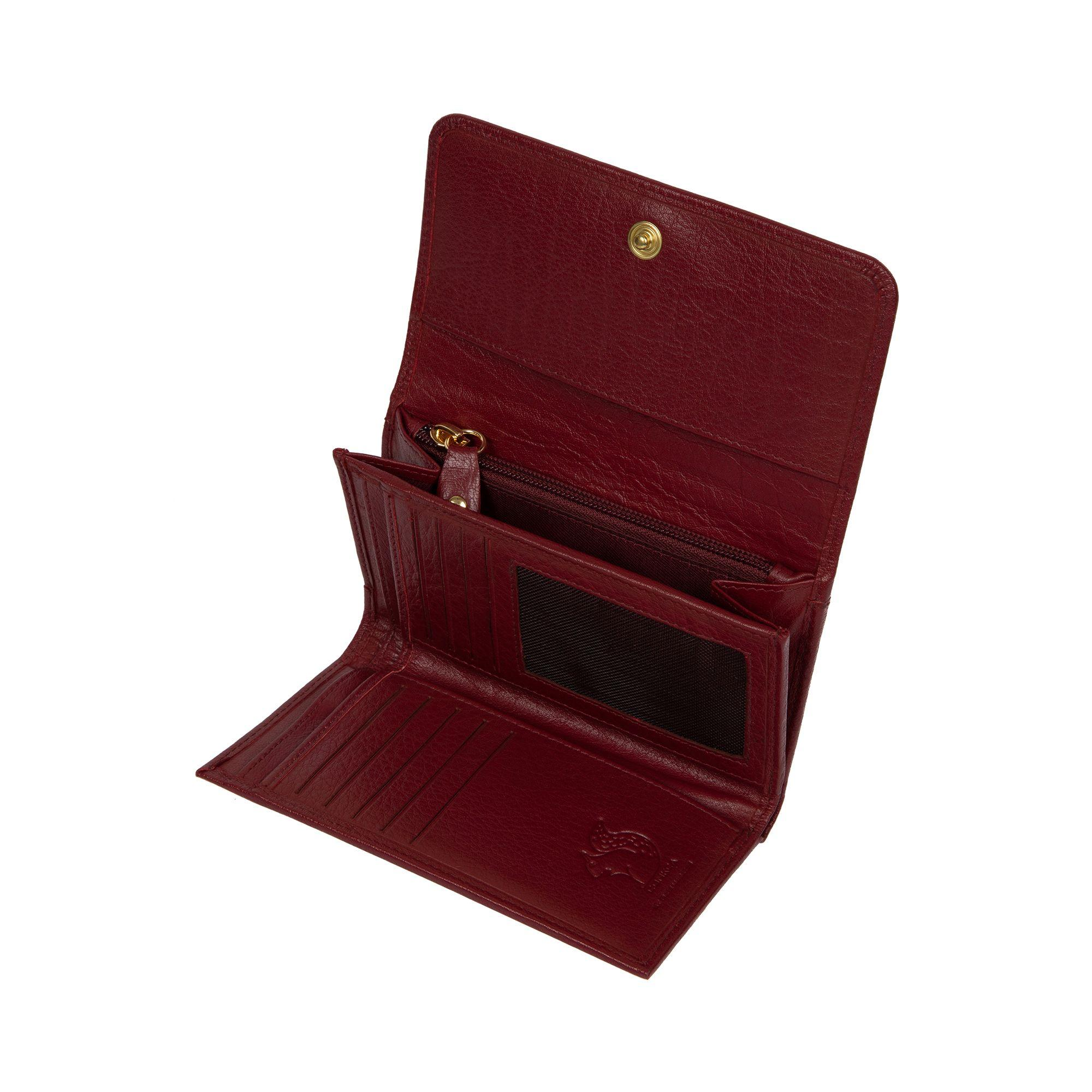 67441efff437b1 Conkca London - Deep Red 'colleen' Leather Rfid Purse - Lyst. View  fullscreen