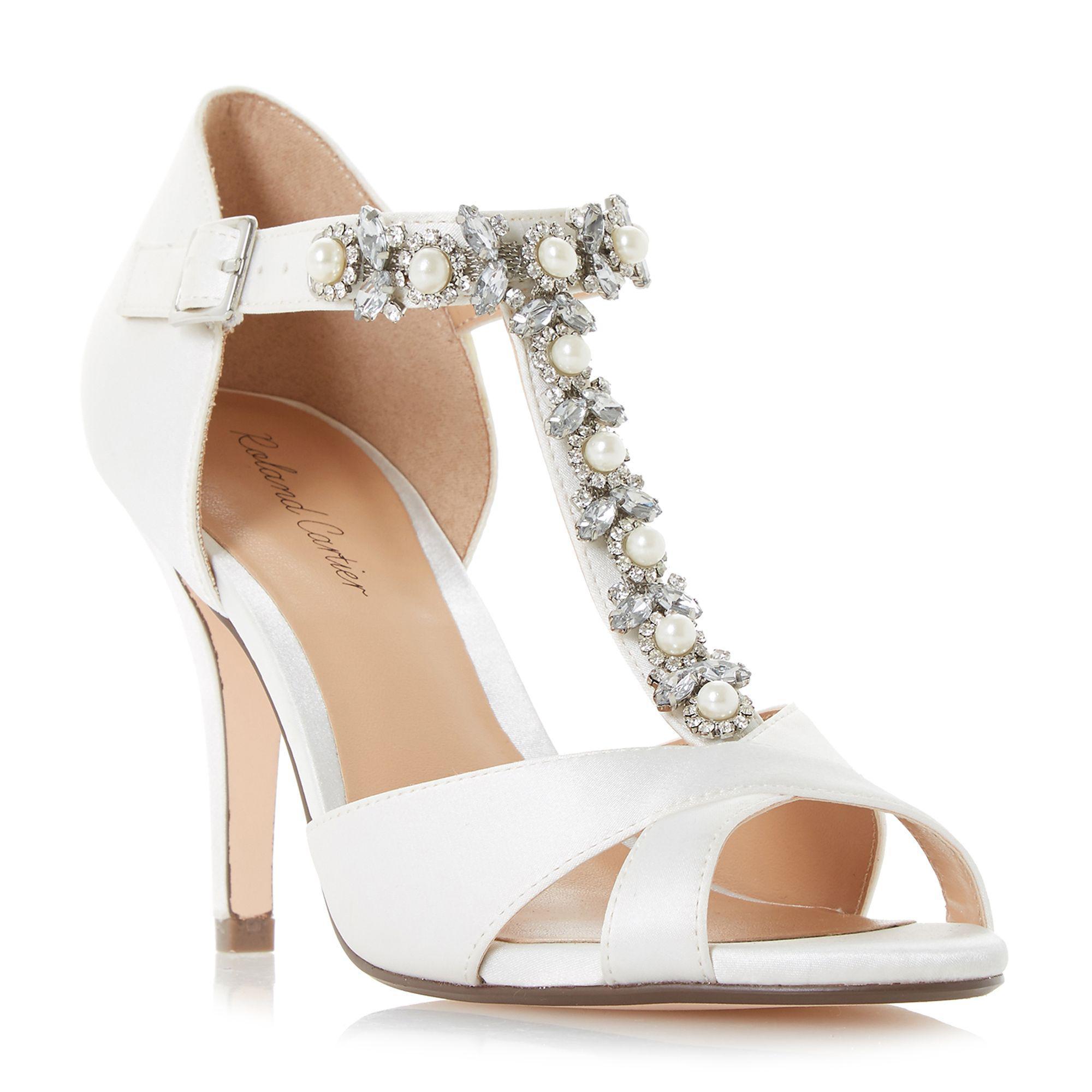339ba5458ff Roland Cartier Ivory Satin  maddalyn  High Stiletto Heel Court Shoes ...